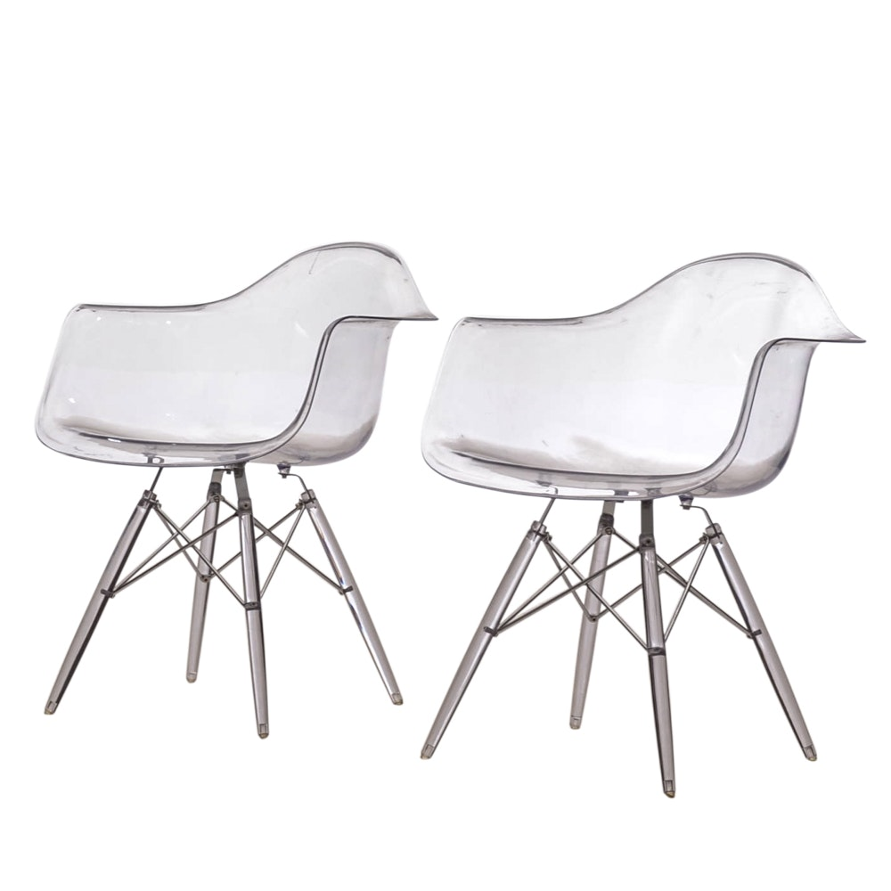 Pair of Eames Style Arm Chairs