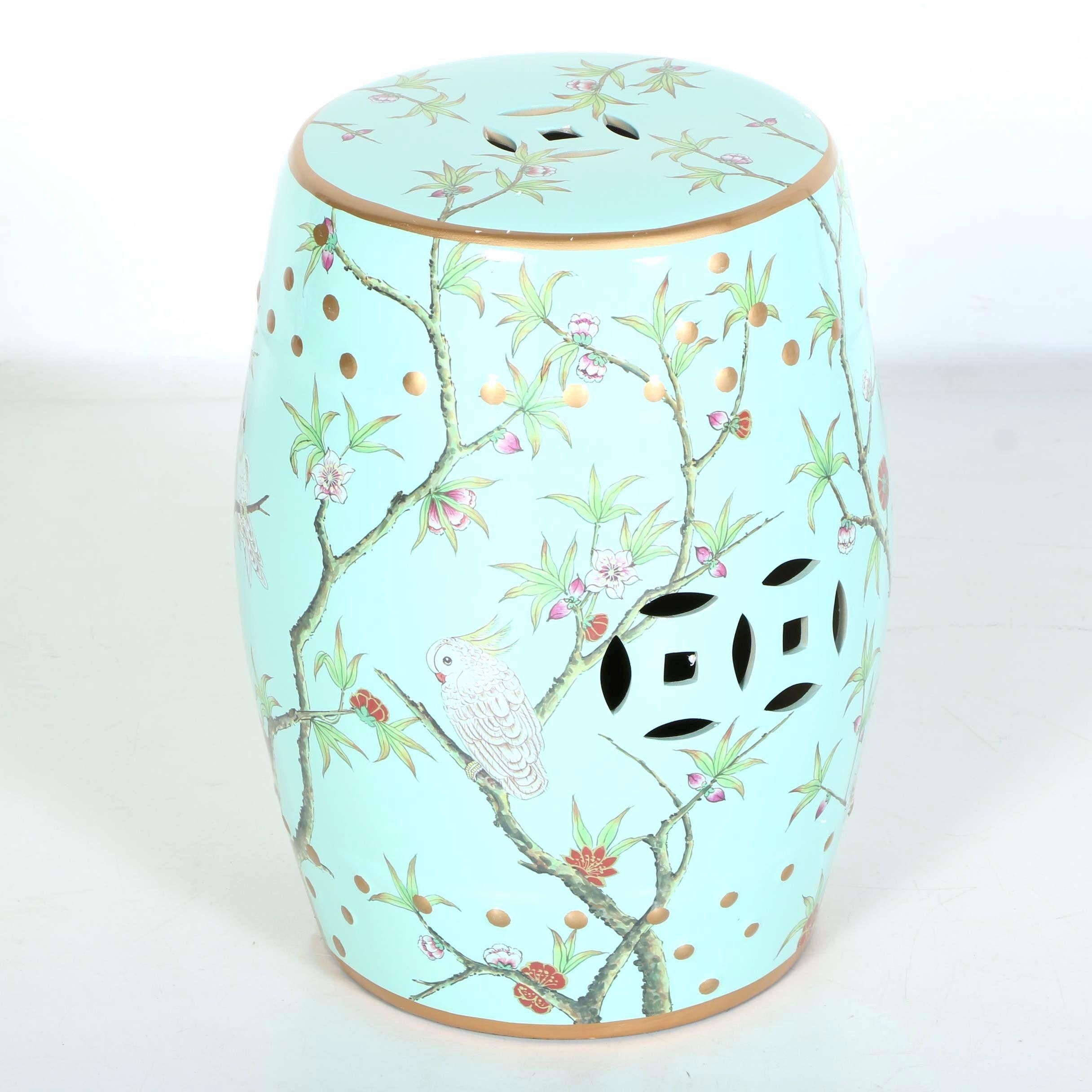 Chinese Blue Ceramic Garden Stool