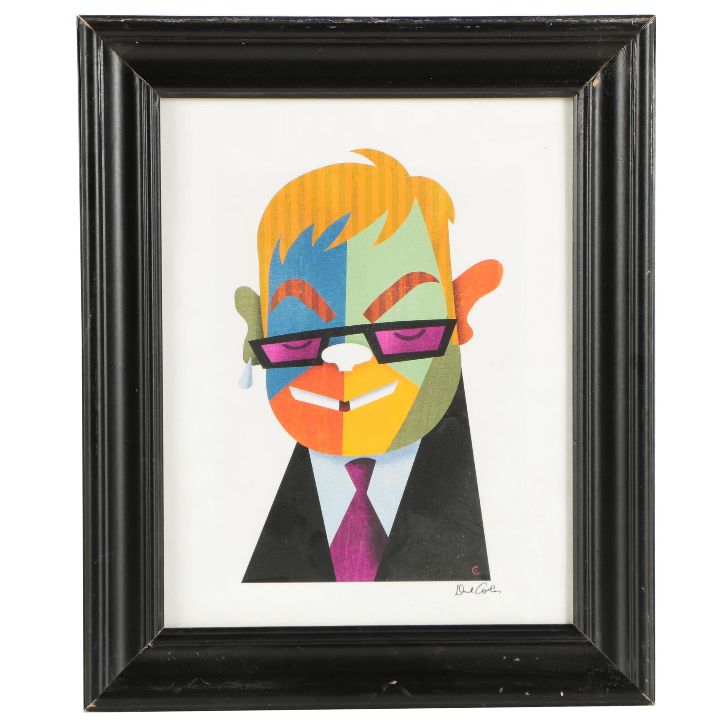 Giclée on Paper After David Cowles of Elton John
