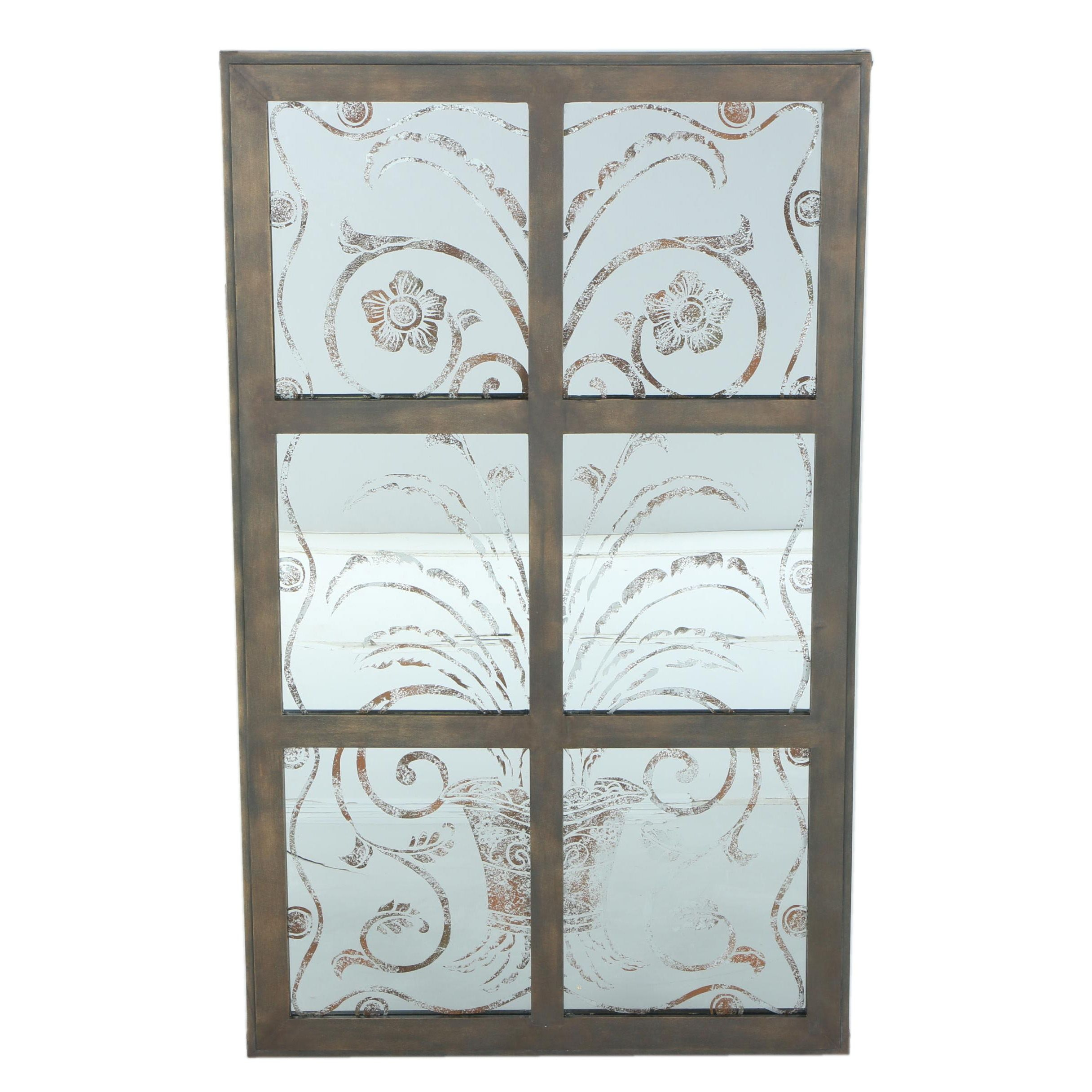 Decorative Paneled Wall Mirror