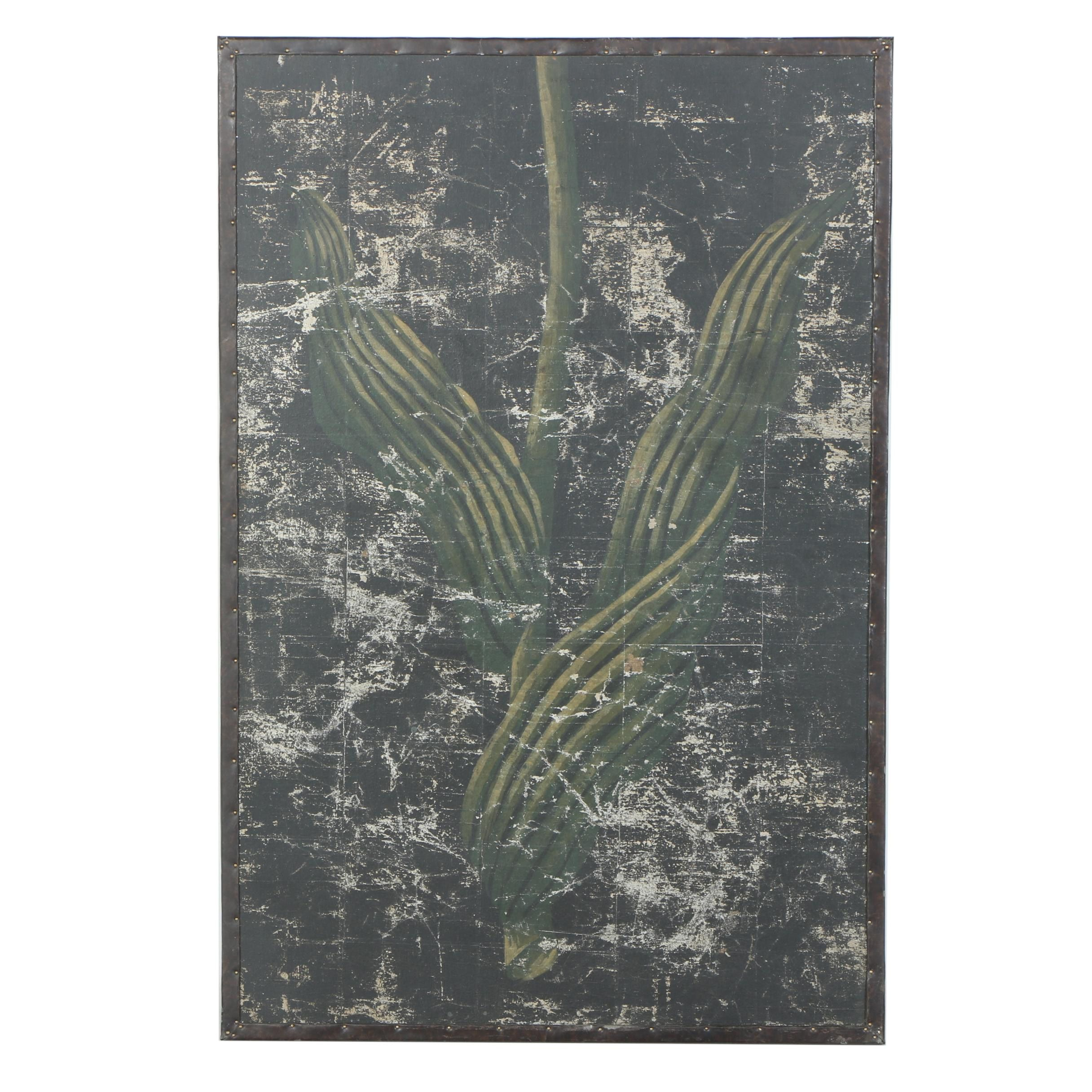 Chinese Foliate Wooden Wall Hanging