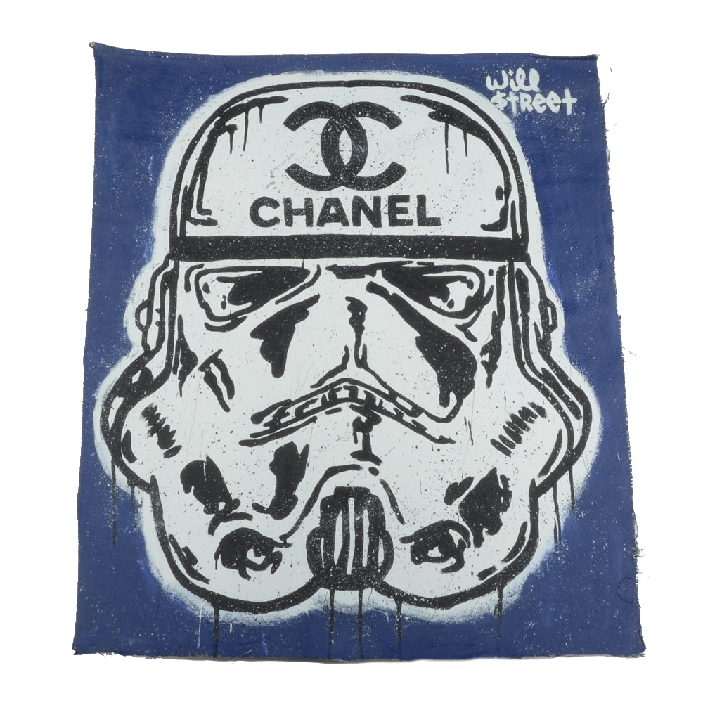 Will $treet Acrylic Painting of a Stormtrooper Wearing Chanel