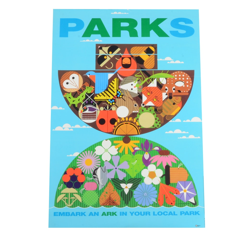 "Charley Harper Hamilton County ""Parks"" Poster"