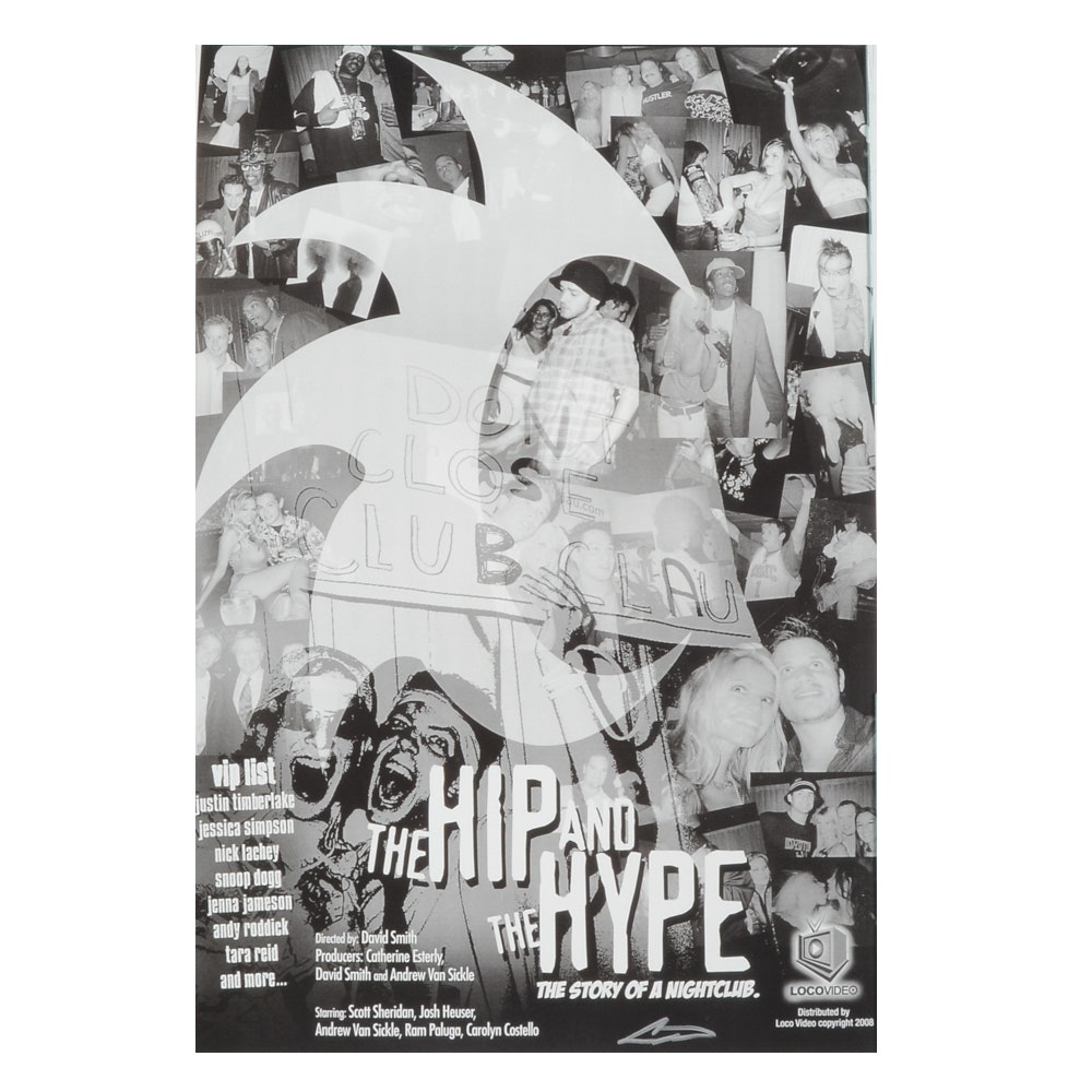 "Andrew VanSickle Signed Offset Movie Poster for ""The Hip and the Hype"""