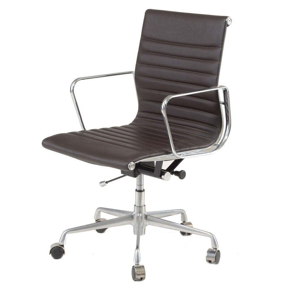"Eames ""Aluminum Group"" Style Office Chair"
