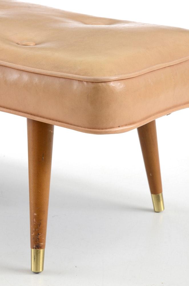 Mid Century Modern Footstool Ebth