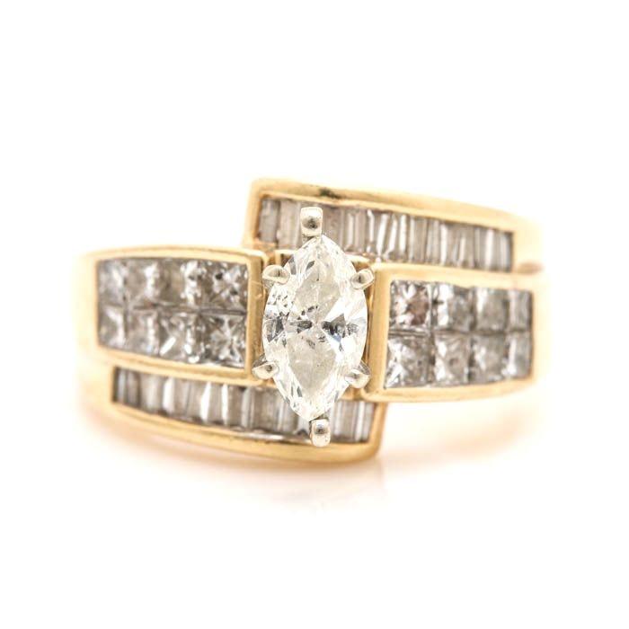 14K Yellow Gold 1.69 CTW Diamond Ring