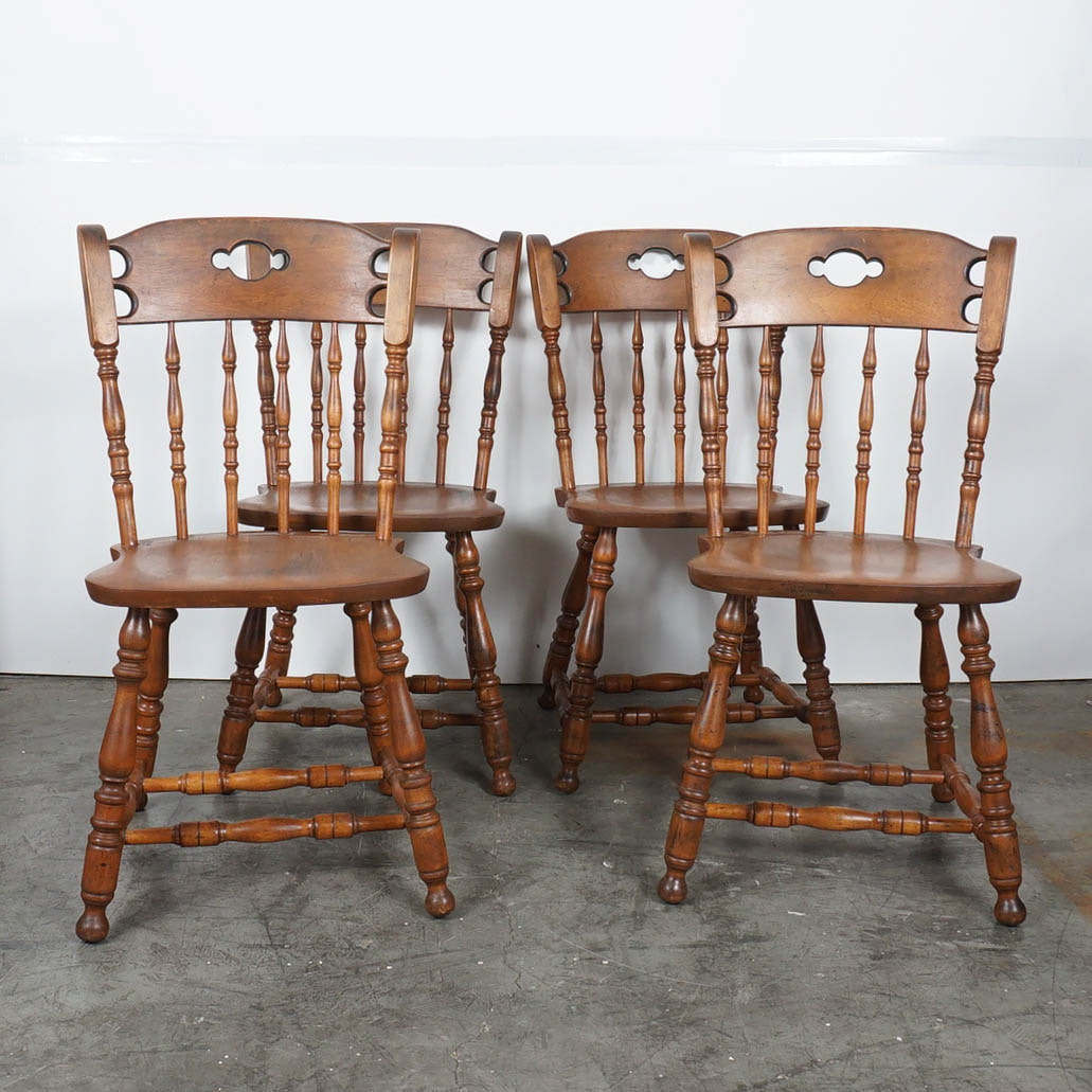 Set of Windsor Style Dining Chairs