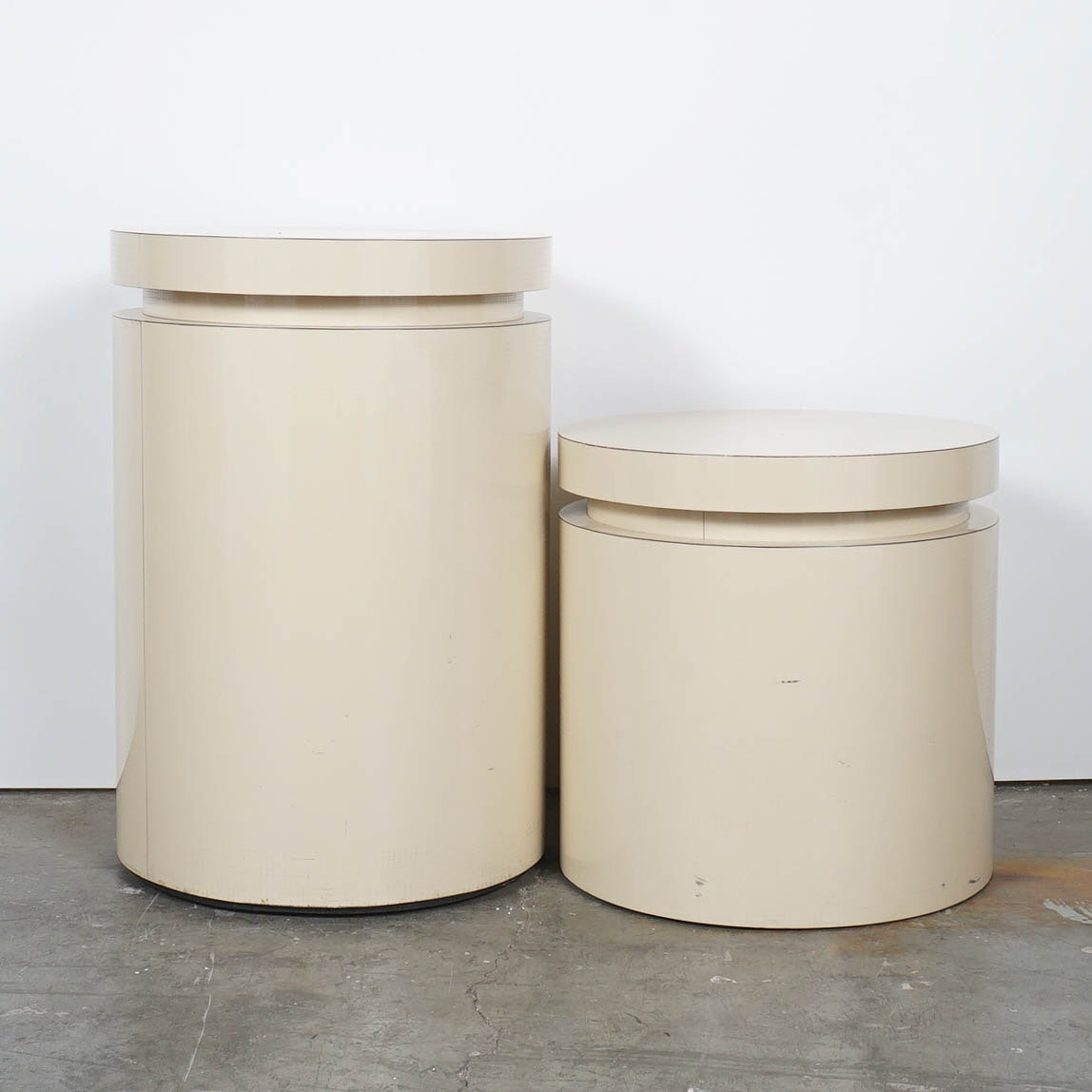 Pair of Contemporary Round Side Tables