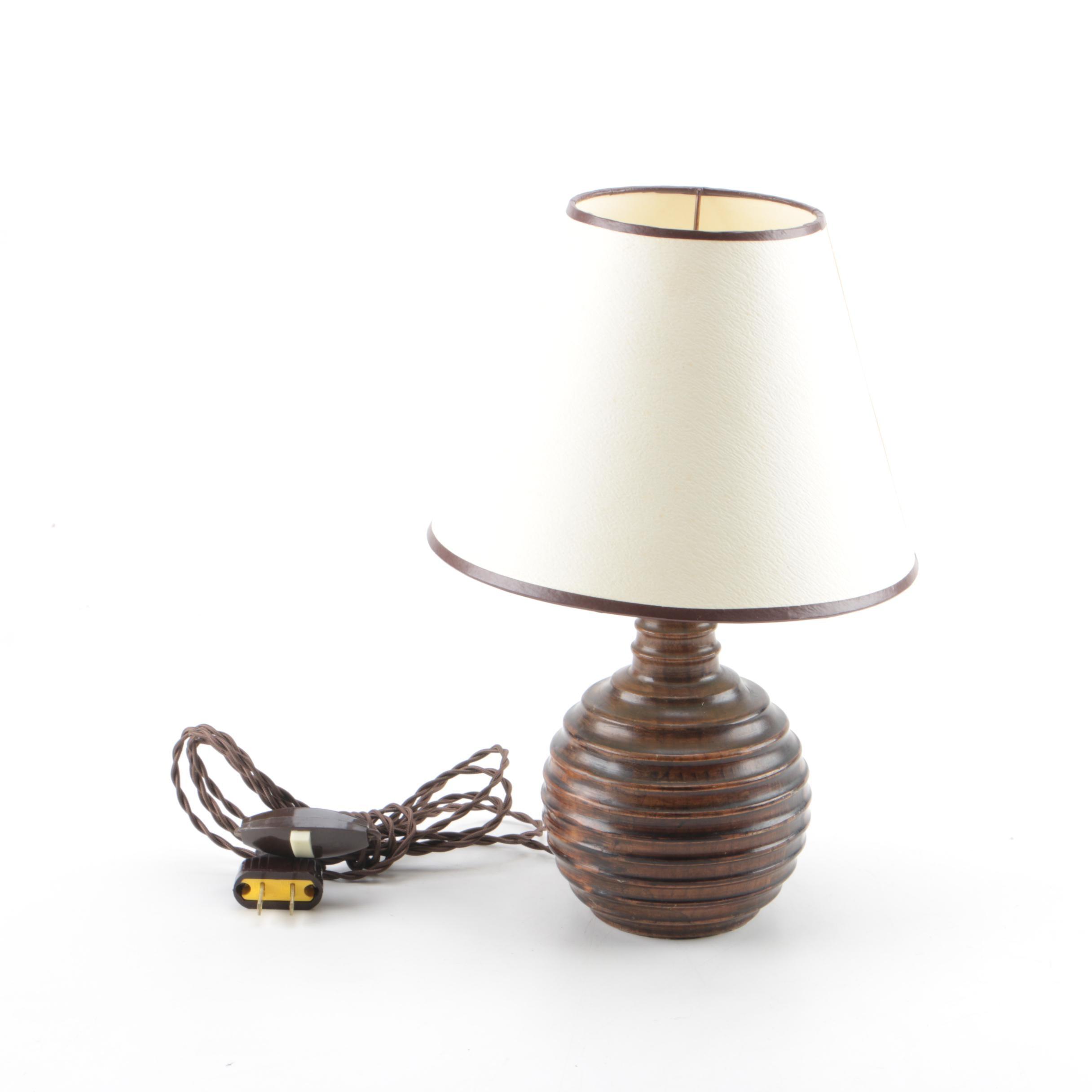 Vintage Wooden Accent Lamp