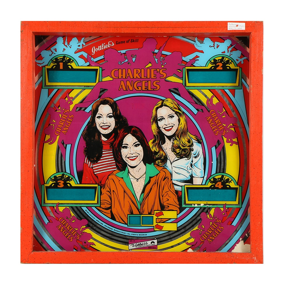 """Charlie's Angels"" Pinball Machine Repurposed Decor"