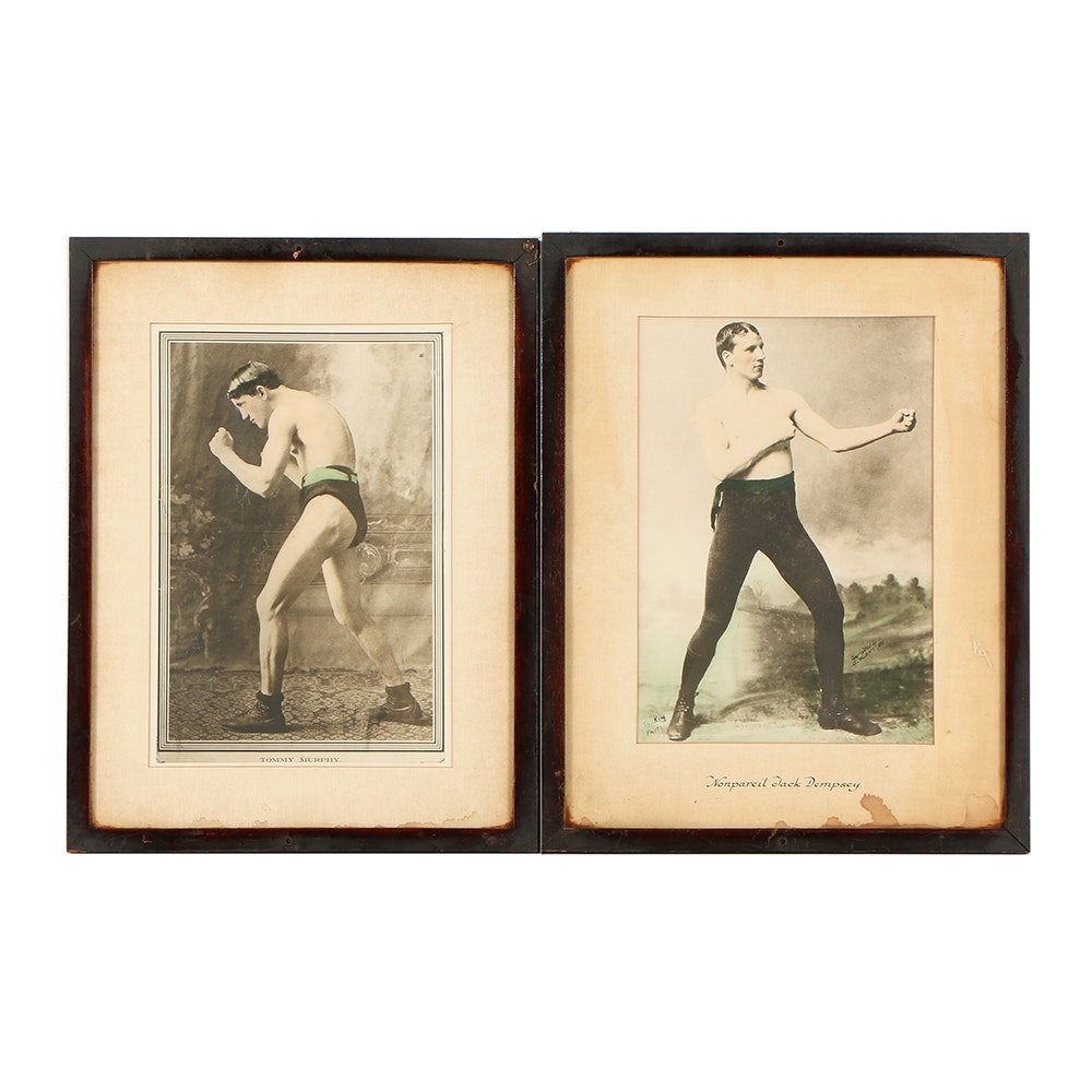 Reproductions Prints on Paper of Early 20th Century Boxers