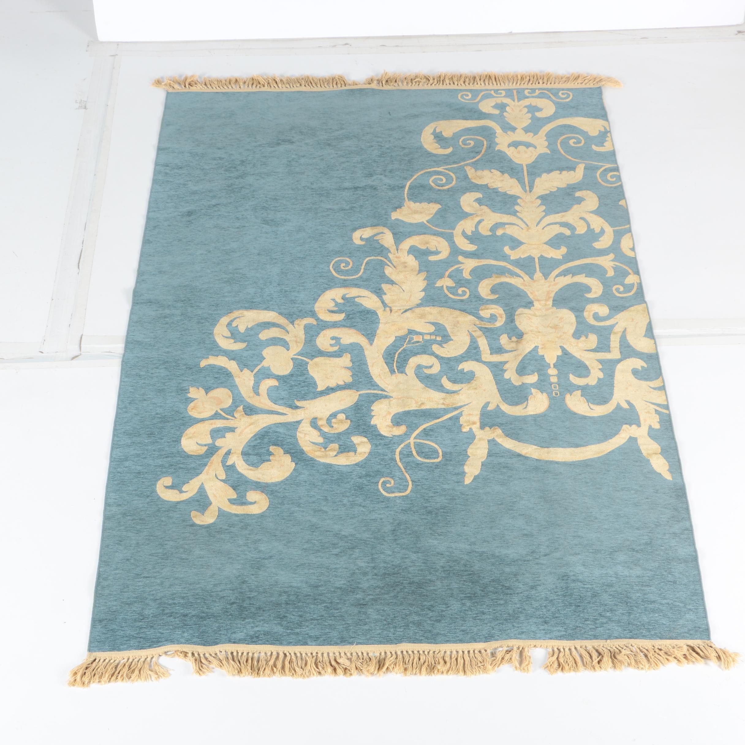 Power-Loomed Wool Area Rug