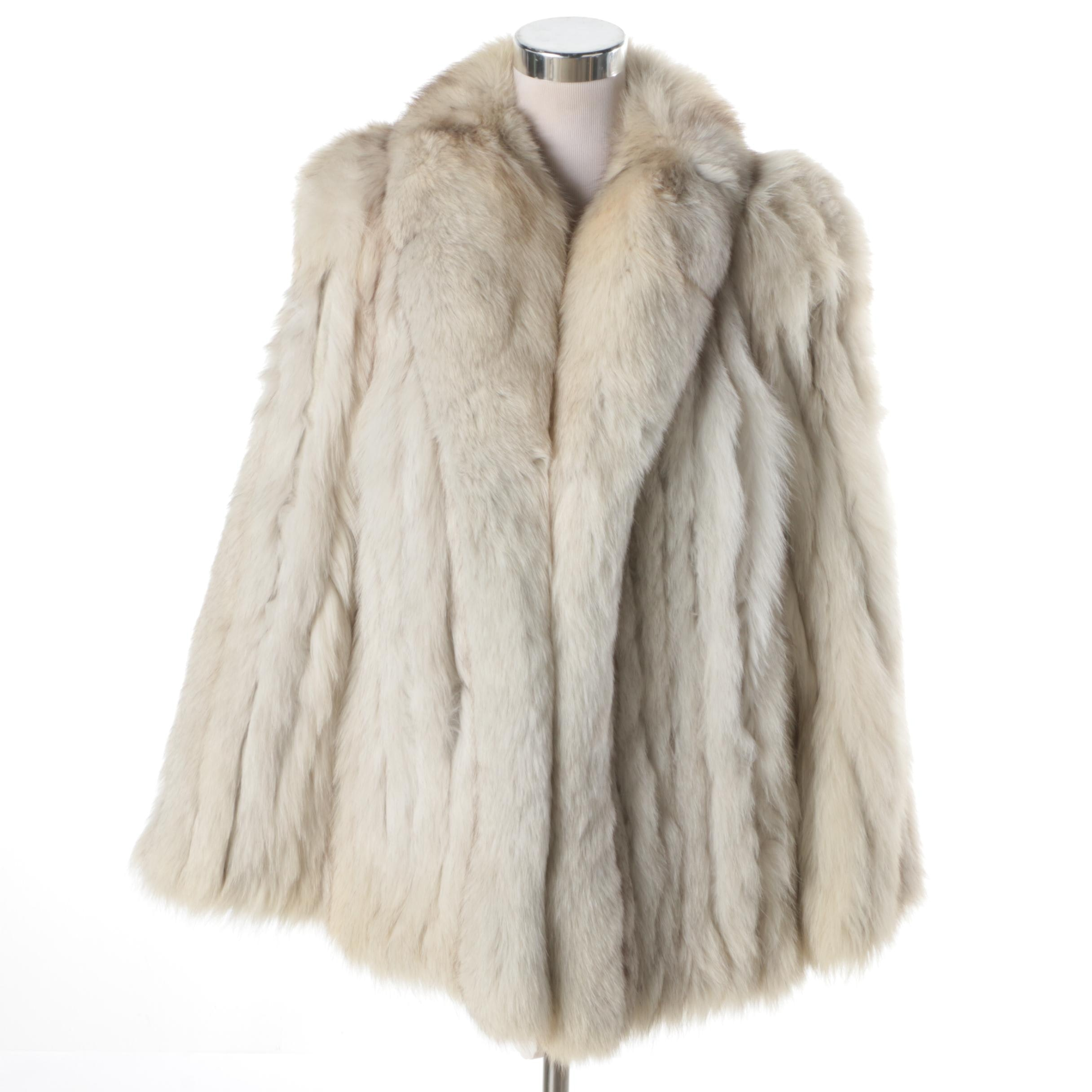Women's Blue Fox Fur Coat
