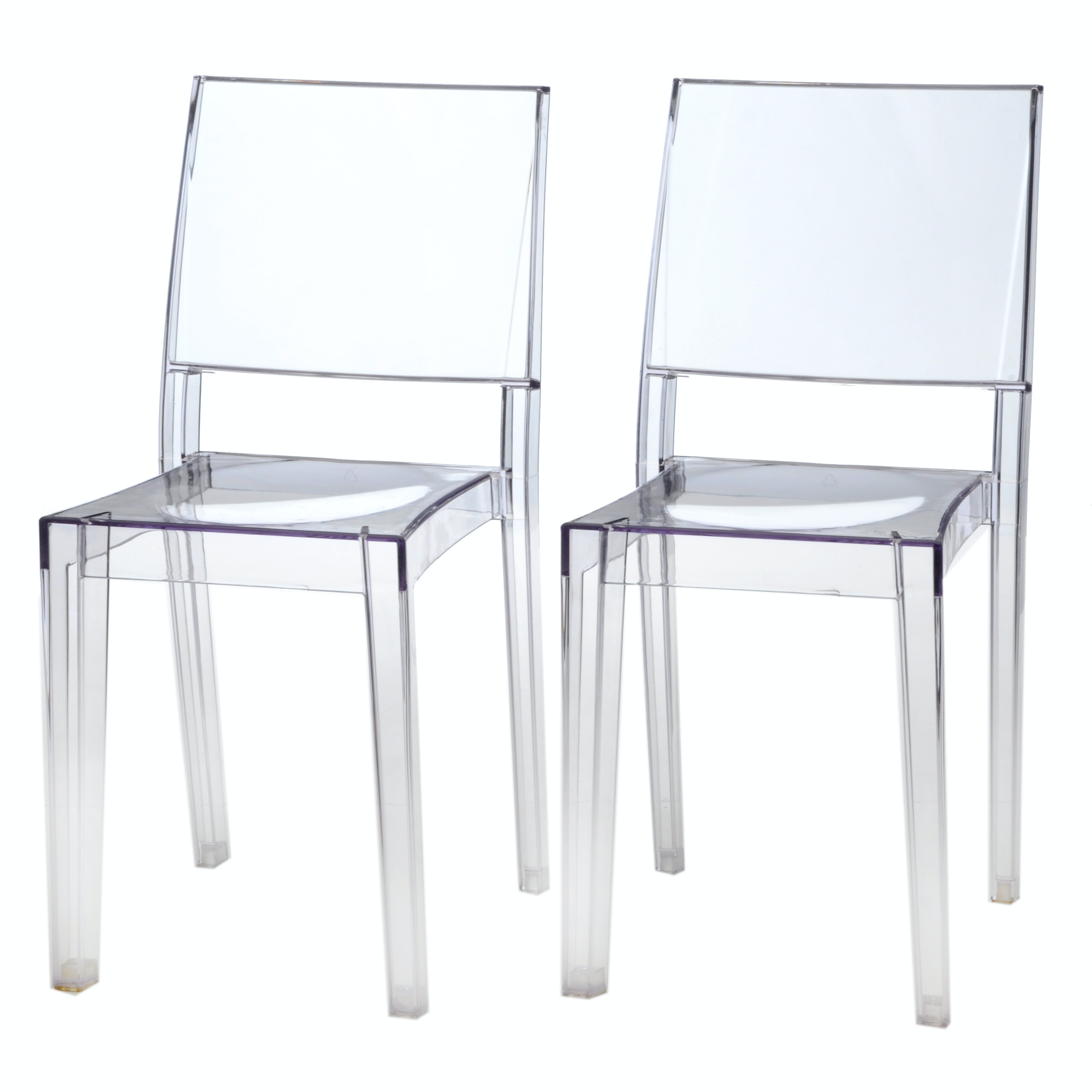 "Pair of Modern ""Ghost"" Style Chairs"