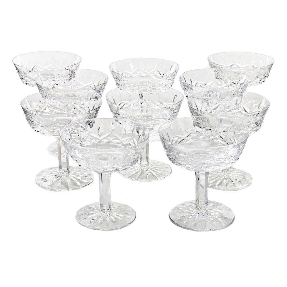 "Set of Waterford ""Lismore"" Sherbet/Champagne Stemware"