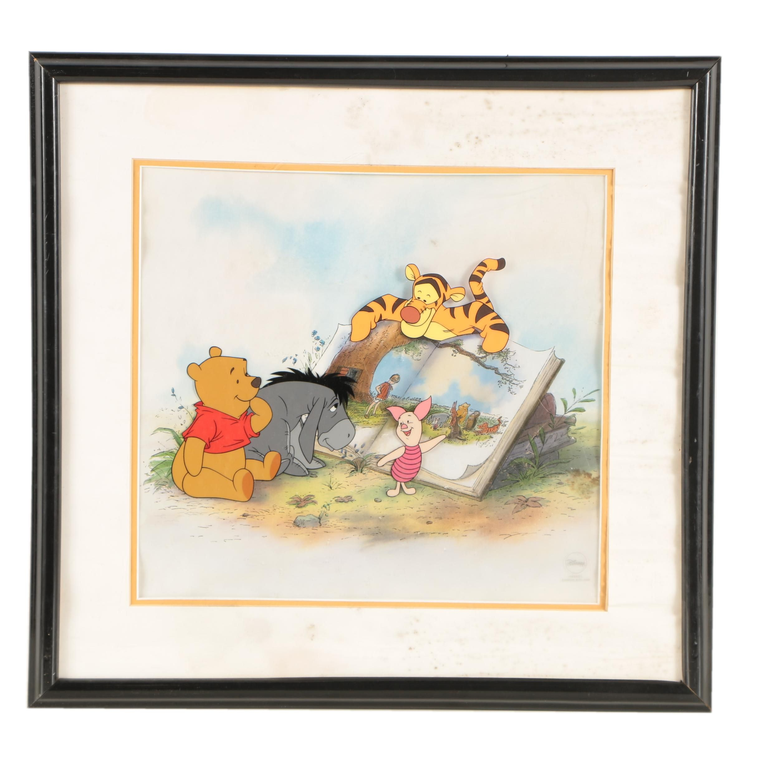"Limited Edition Walt Disney Animation Cel ""Winnie the Pooh and Storytime Too"""