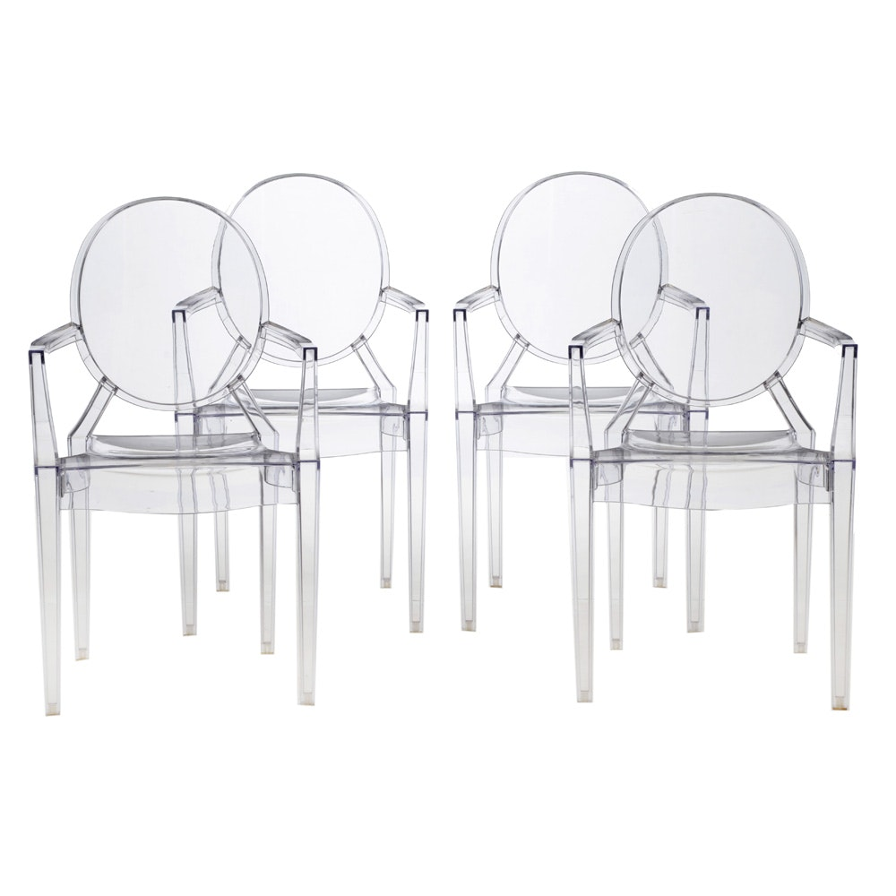 "Set of Modern ""Ghost"" Style Chairs"