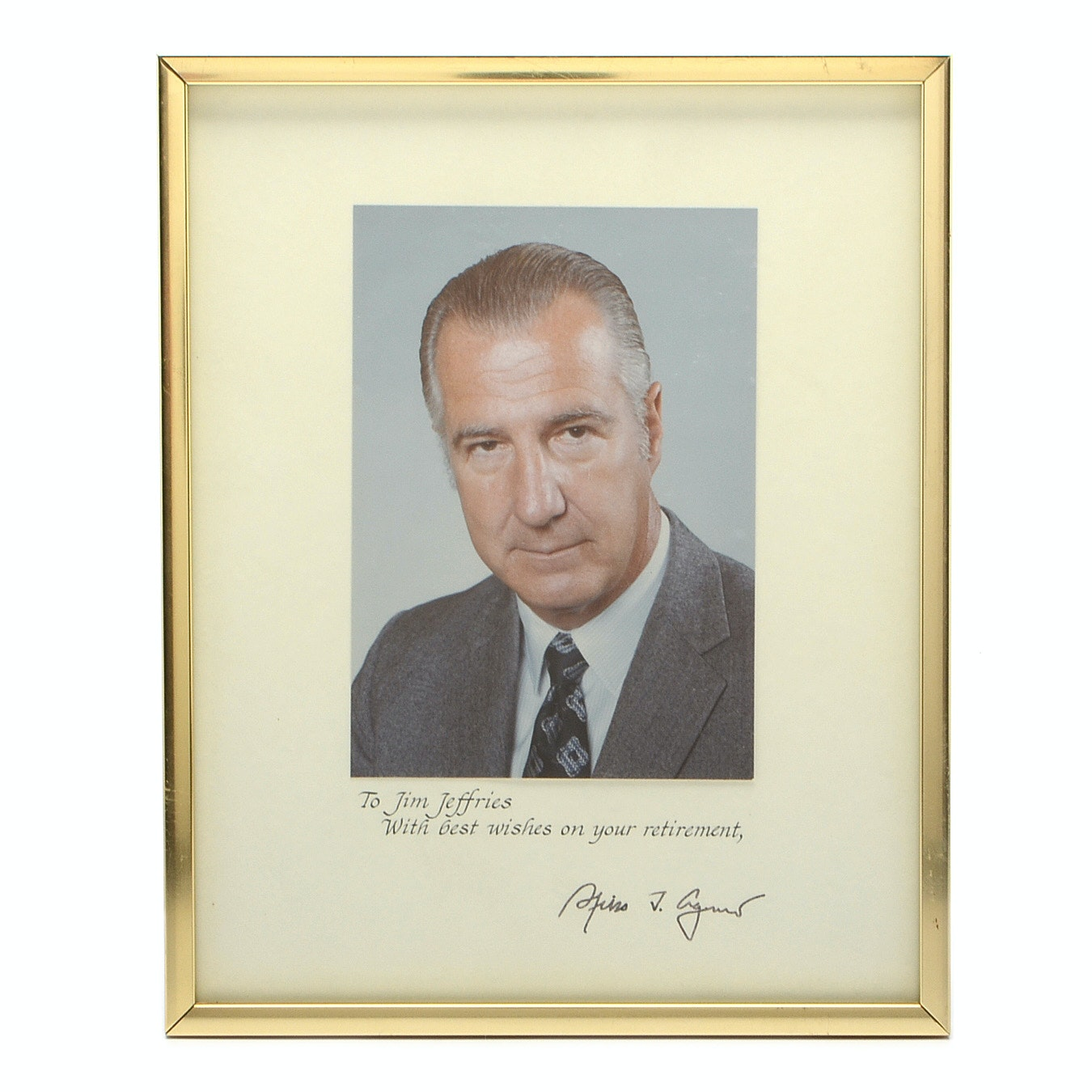 Vice-President Spiro Agnew Presentational Framed Photo Print
