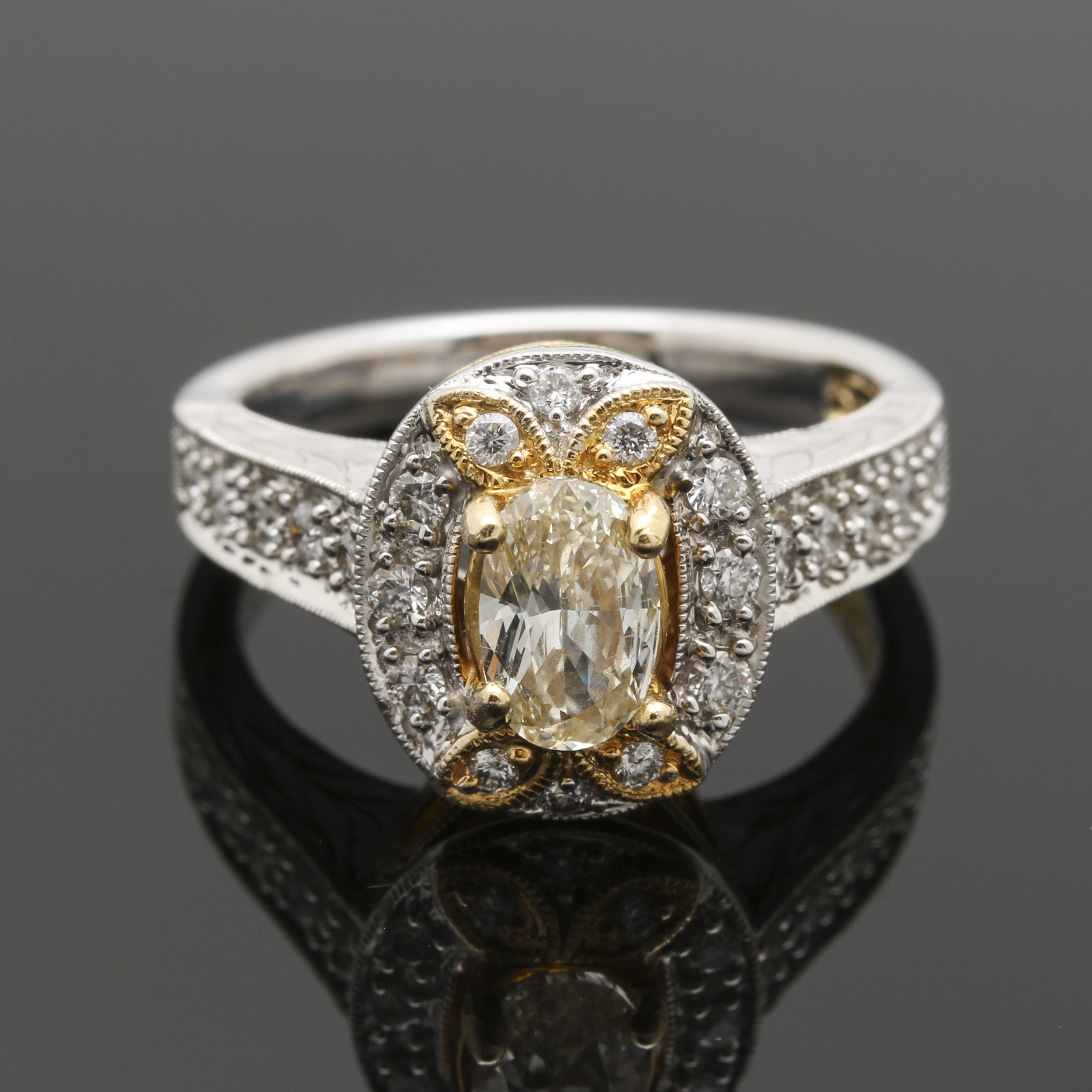 Shaguy 18K White and Yellow Gold Diamond Ring