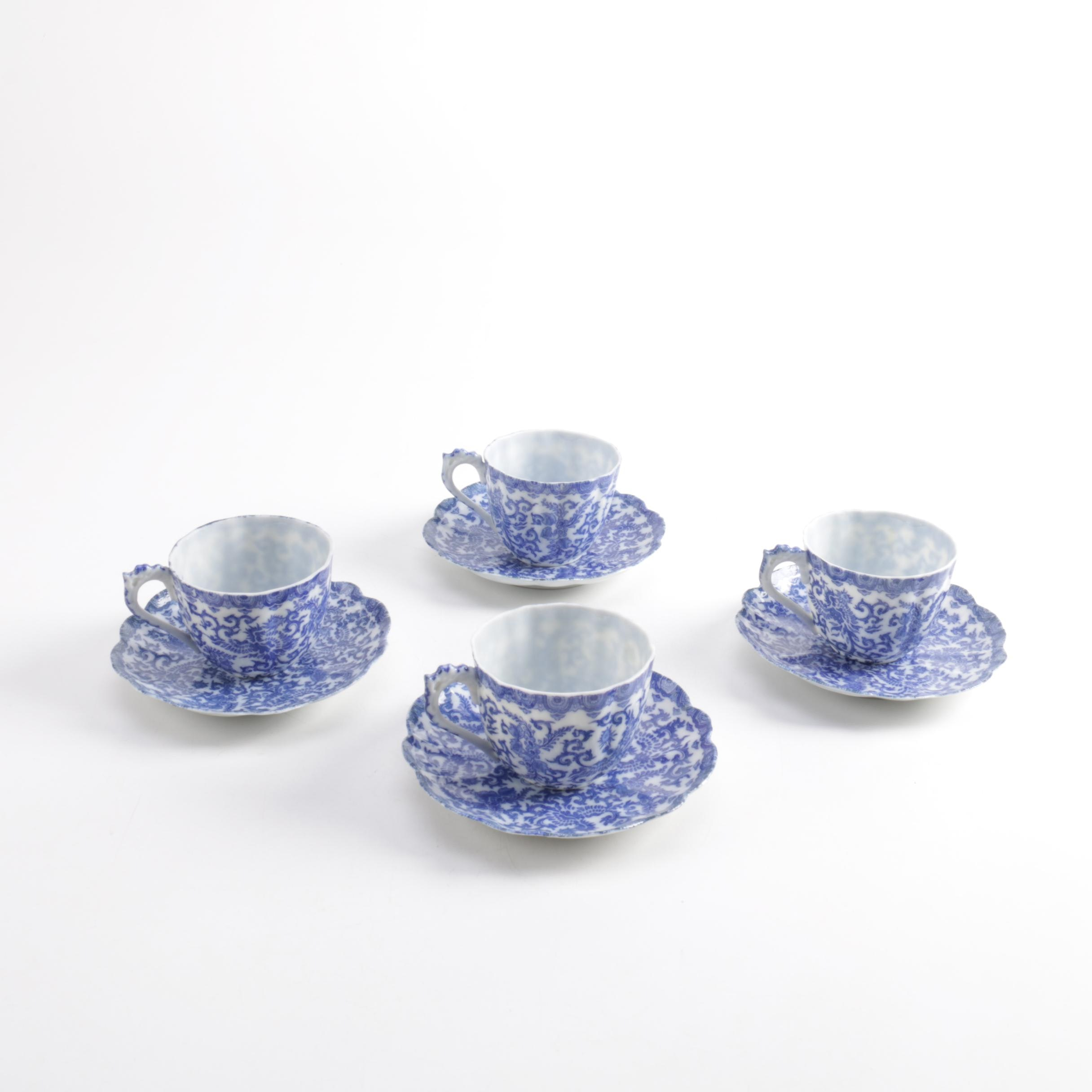 Porcelain Teacups and Saucers
