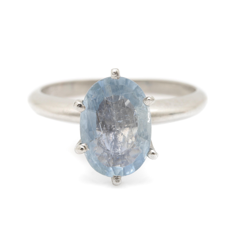Platinum 1.50 CT Sapphire Solitaire Ring