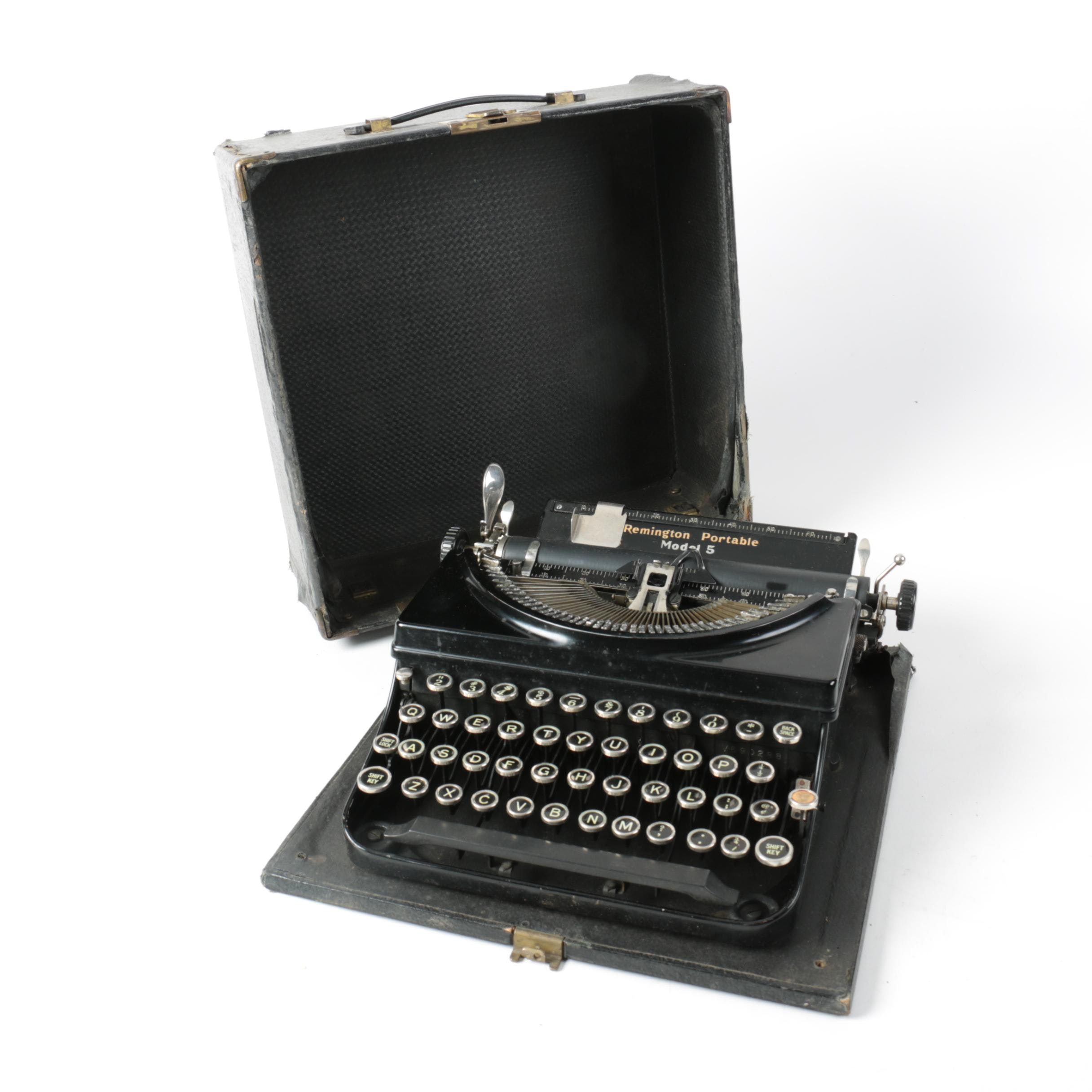 1930s Remington Portable Model 5 Typewriter