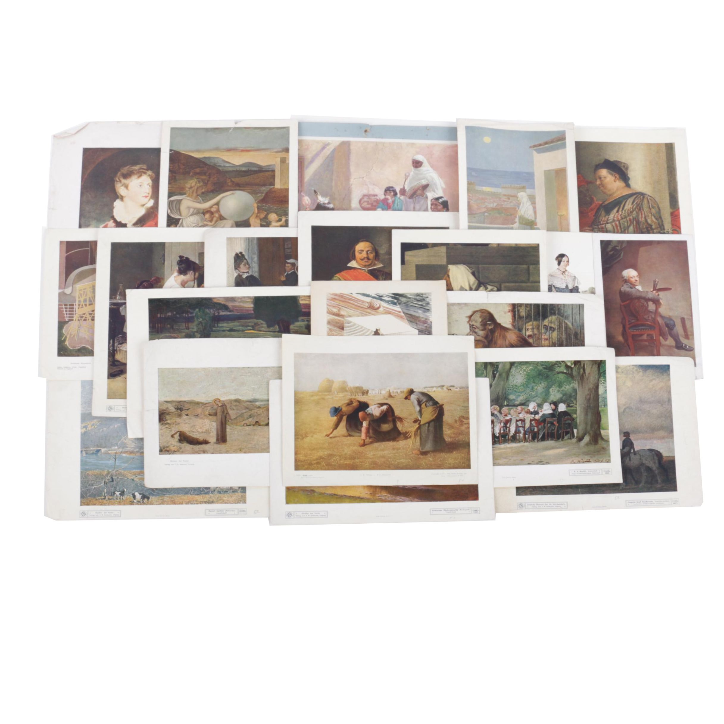 Collection of Offset Lithographs on Paper