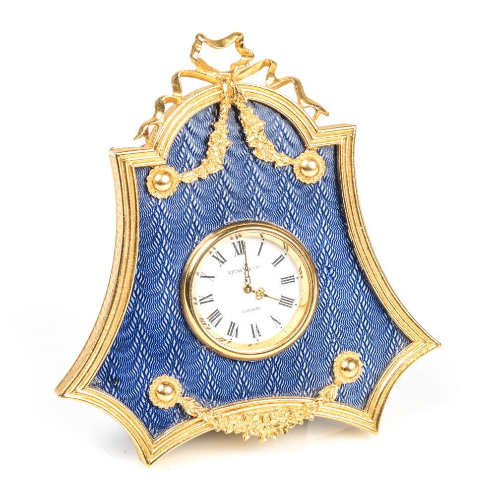 Kitney & Co. Enamel Accented Desk Clock