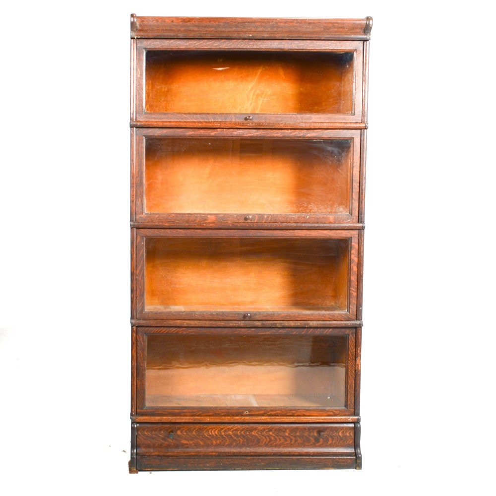 Vintage Quarter Sawn Oak Barrister Bookcase by Macey