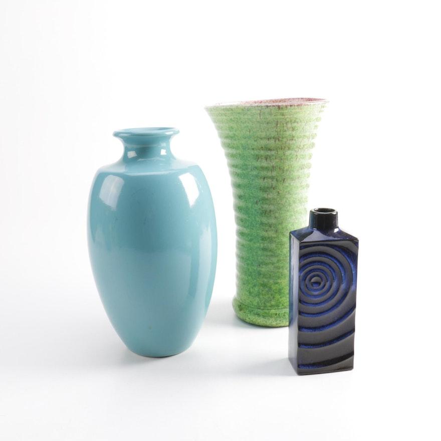 Ceramic Vases Including Villeroy And Boch Ebth