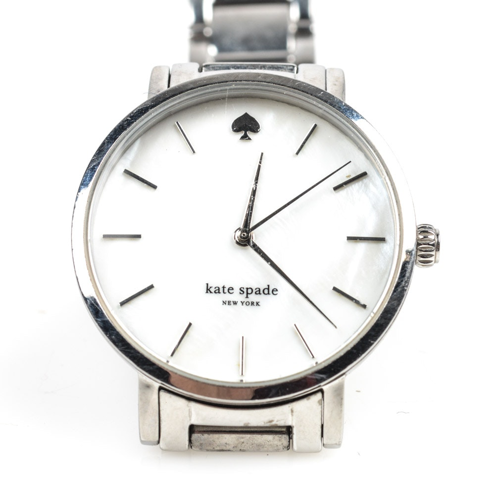 Kate Spade Stainless Steel and Mother of Pearl Wristwatch