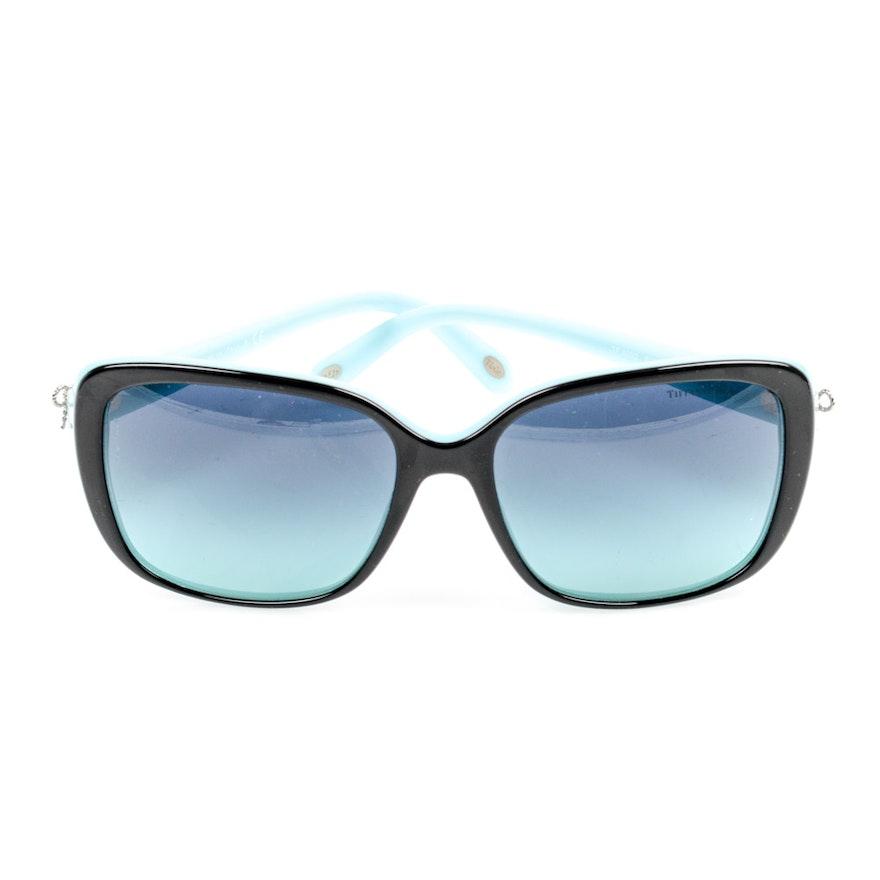 76912630d879 Tiffany   Co. Black and Blue Square Sunglasses   EBTH