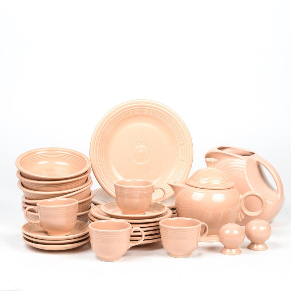 """""""Fiestaware"""" Ceramic Tableware in Peach"""