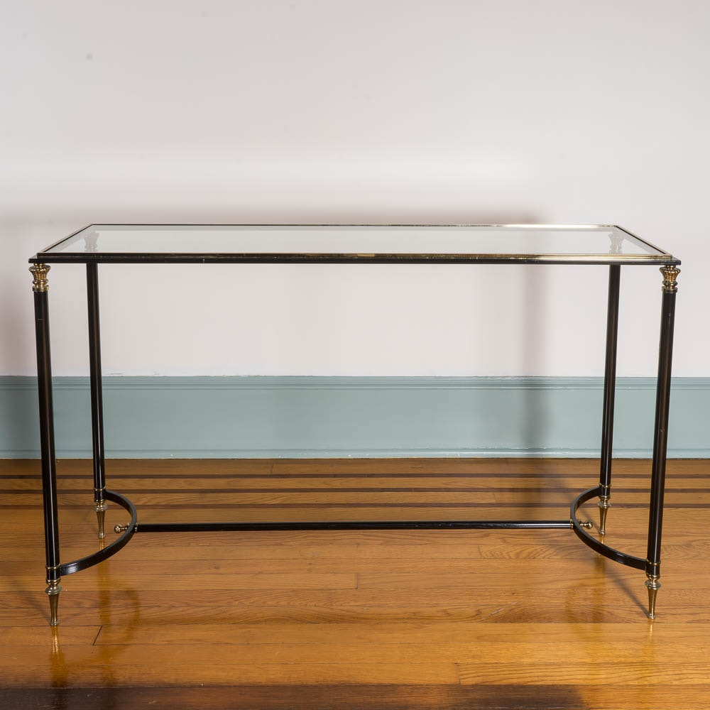Neoclassical Style Wrought Iron Console Table
