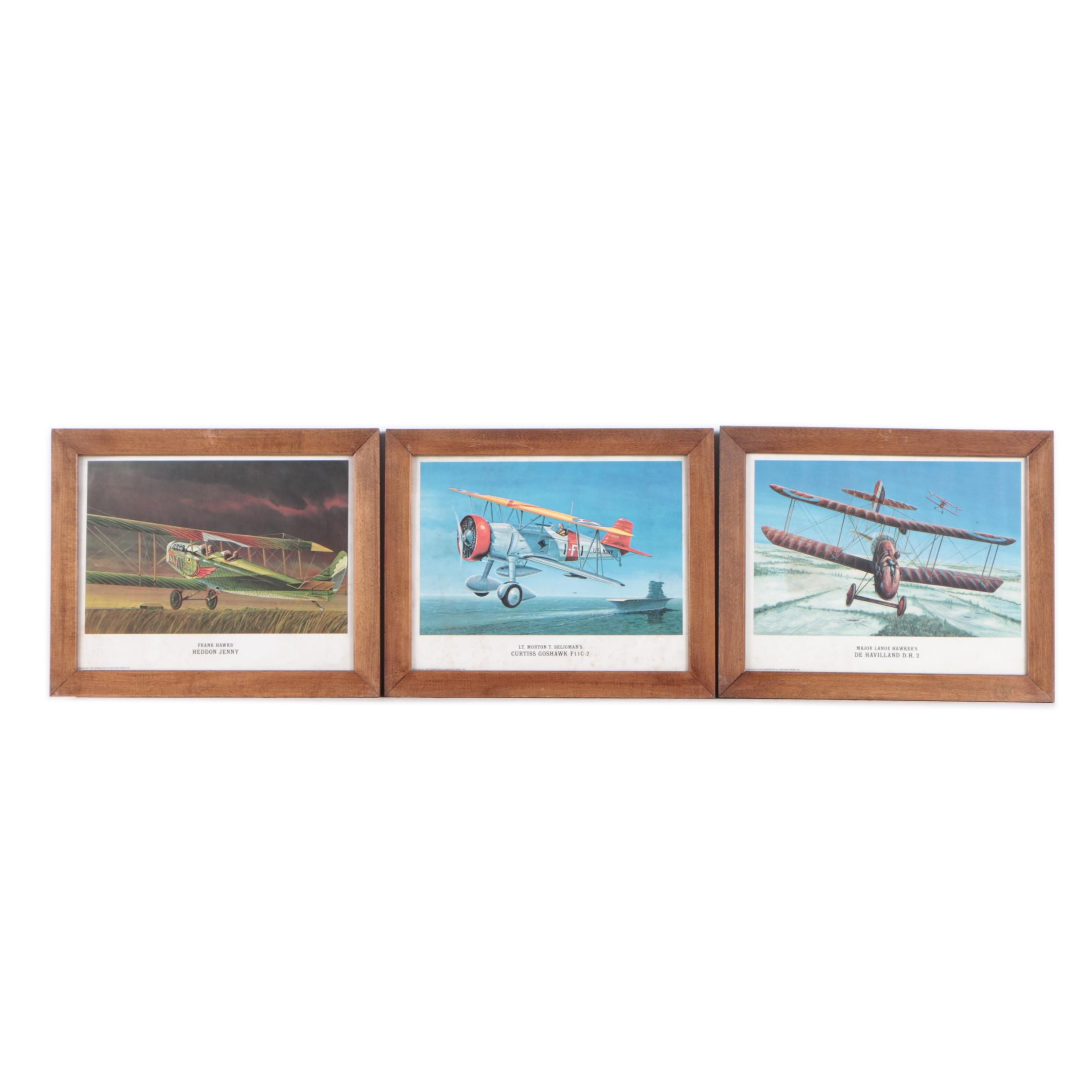 Collection of Offset Lithographs on Paper of Airplanes