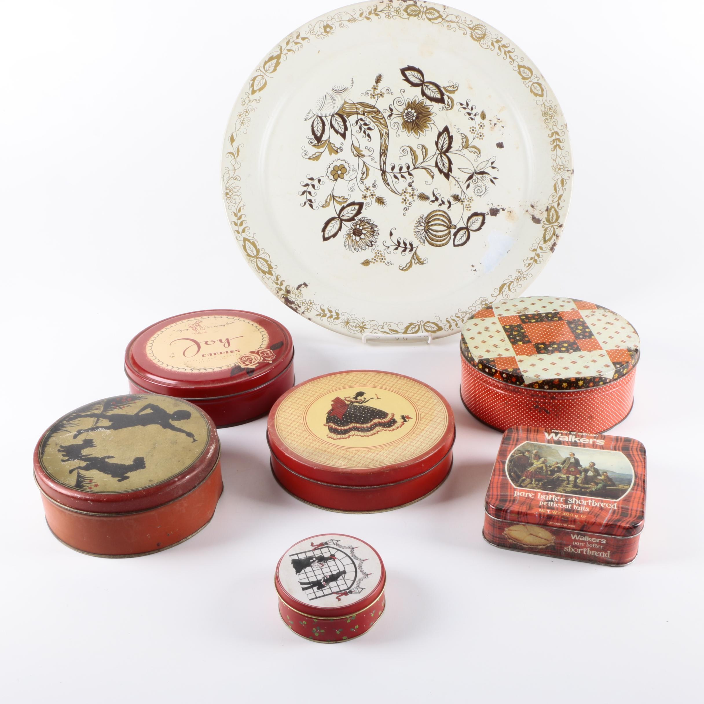 Vintage Cookie Tins and Social Supper Tray
