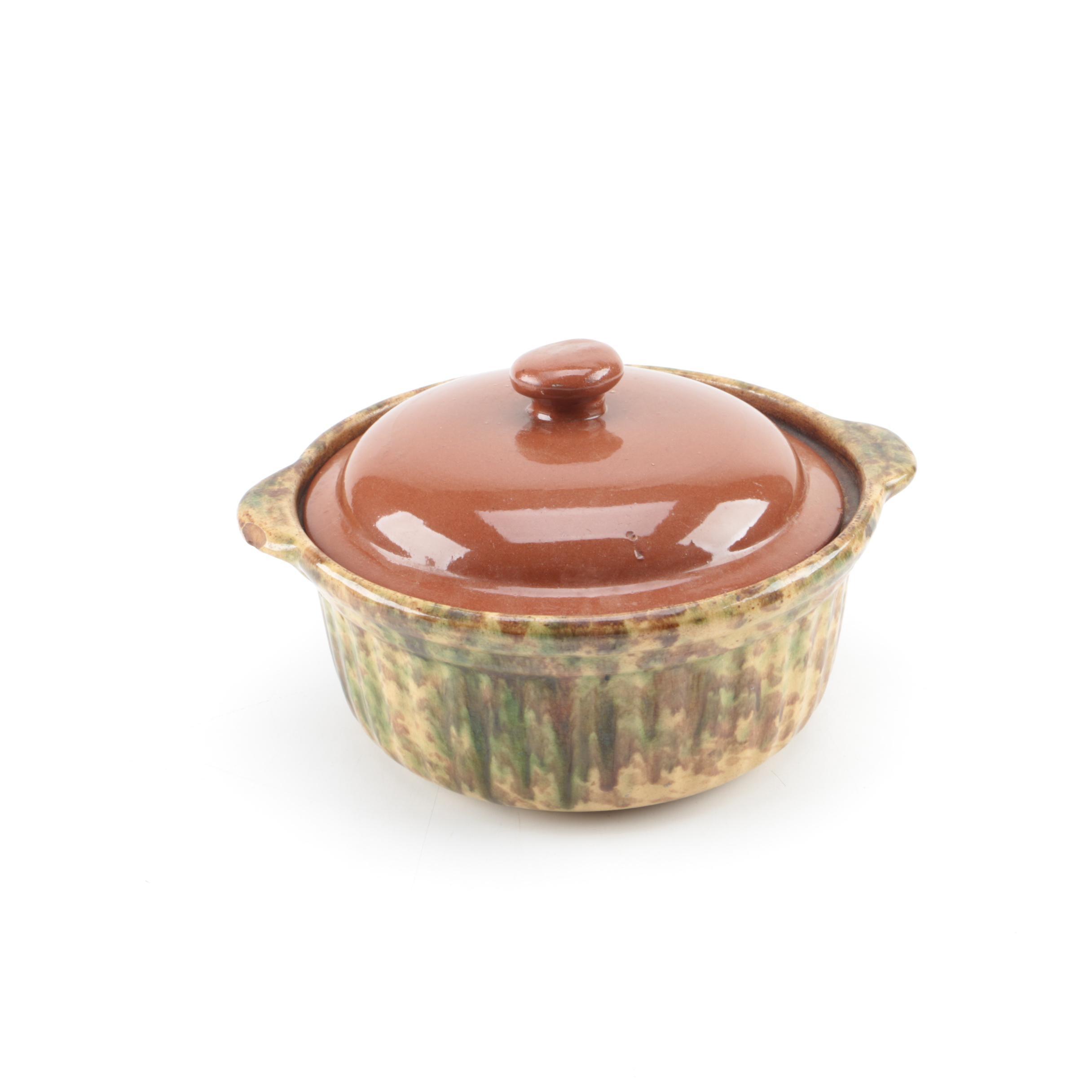 Vintage Stoneware Casserole