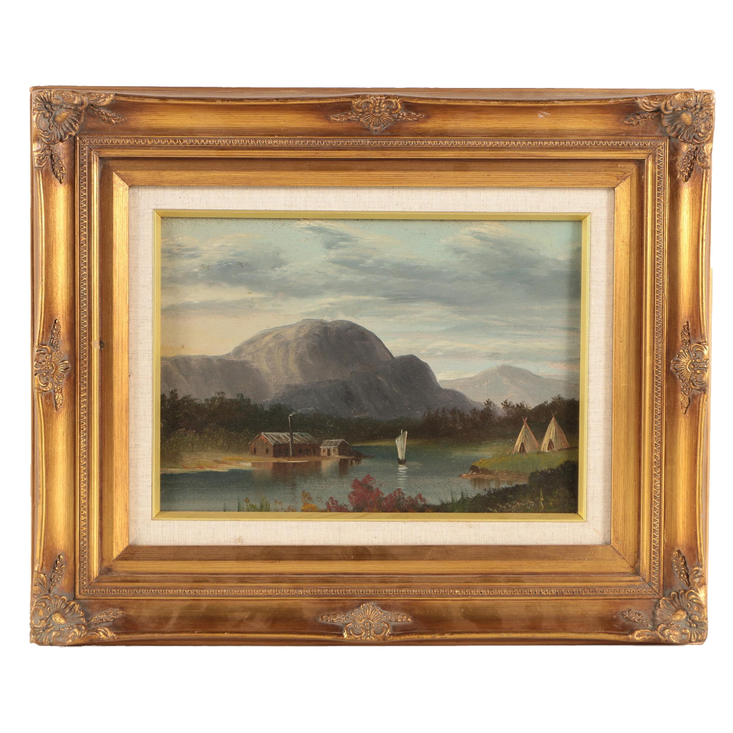 Oil Painting on Board of a Landscape