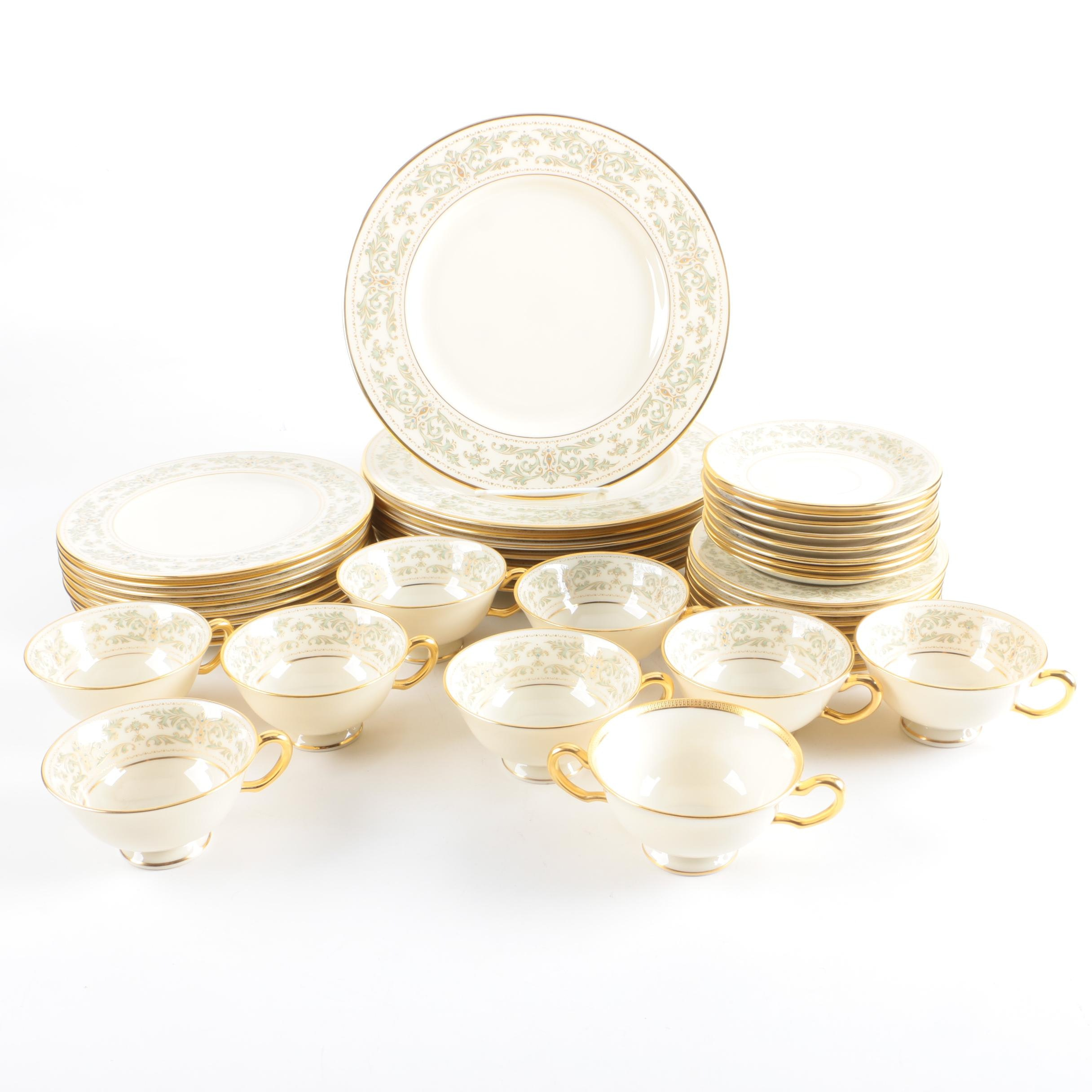 "Lenox Porcelain ""Noblesse"" Dinner Service for Eight"