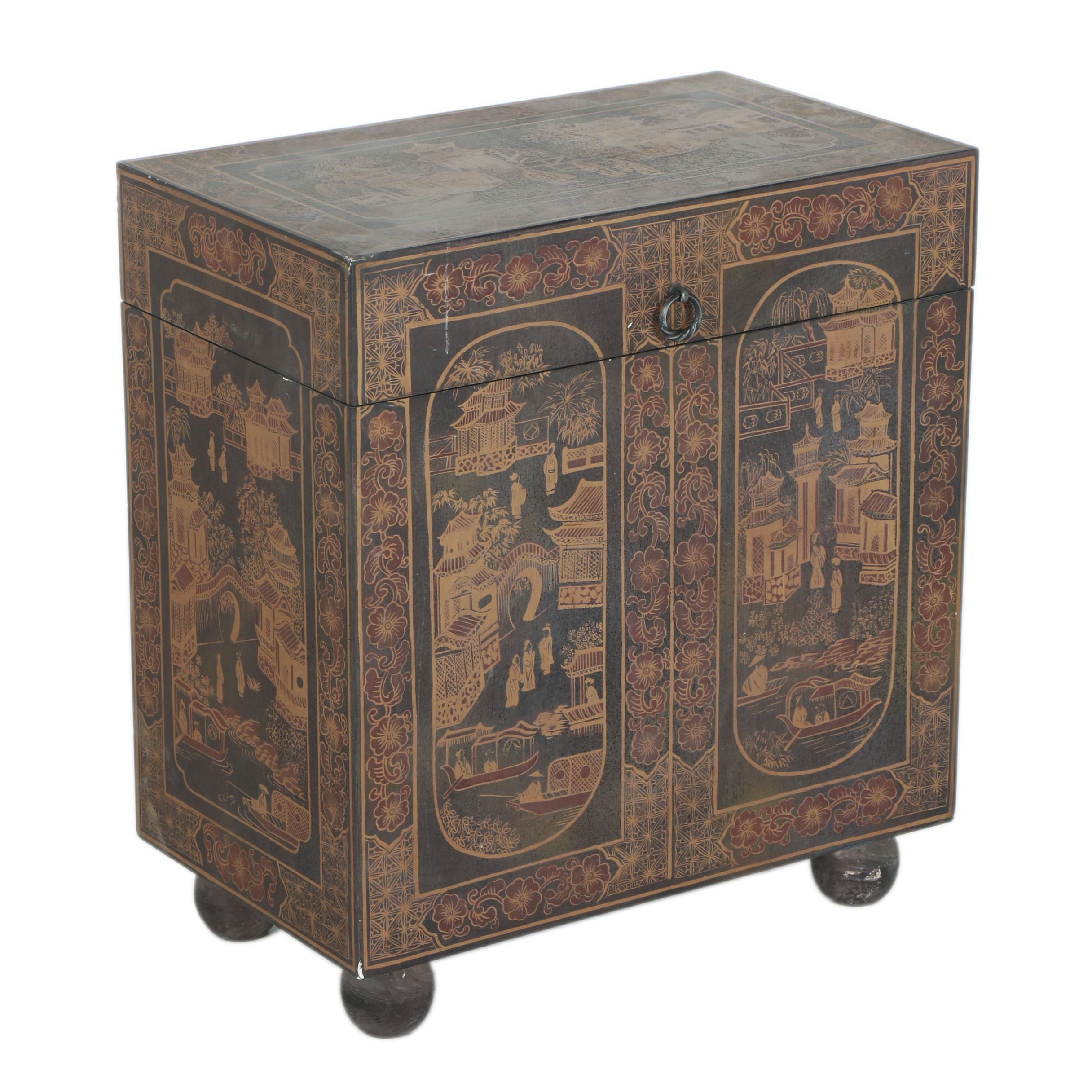 Chinoiserie Wood Chest