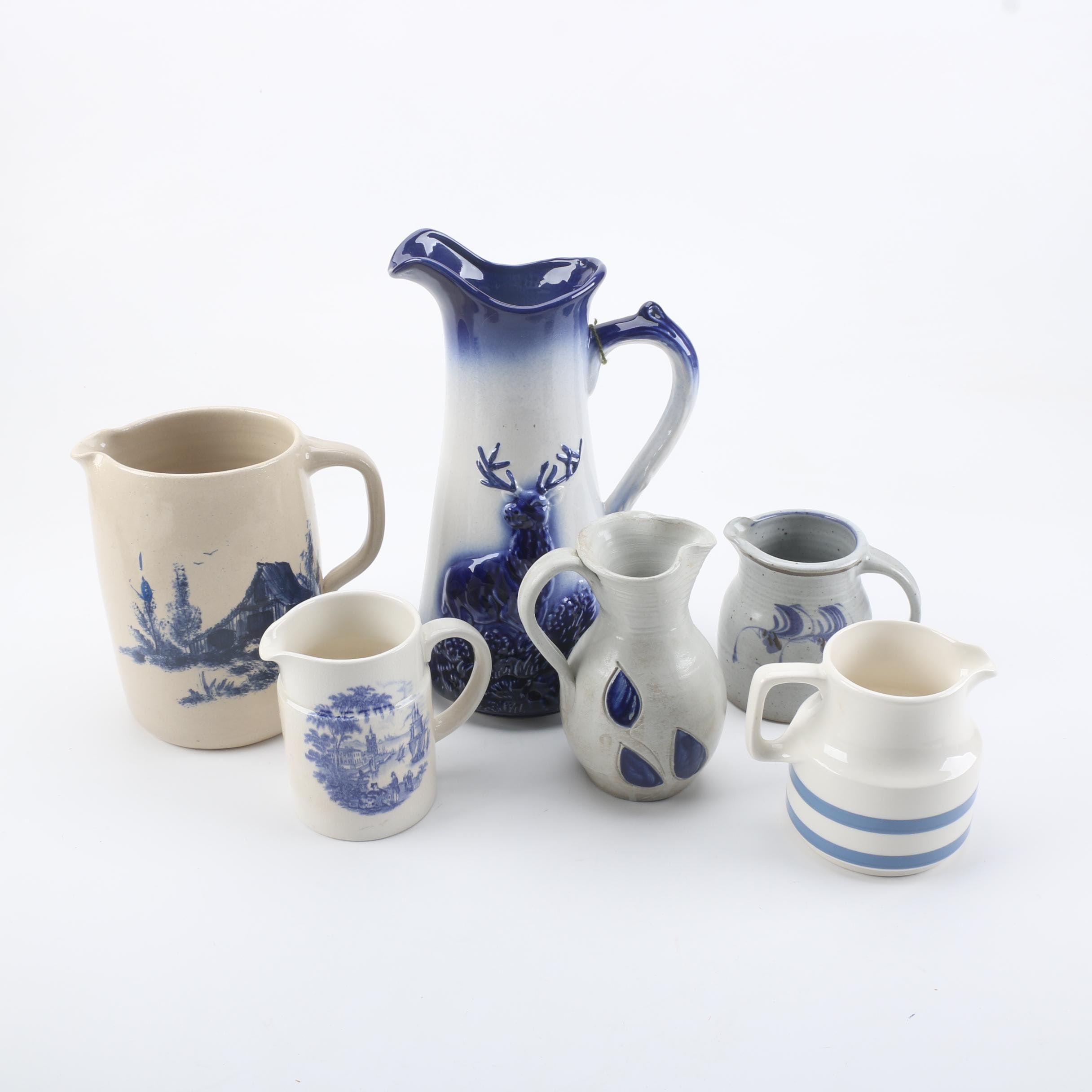 Ceramic and Art Pottery Pitchers