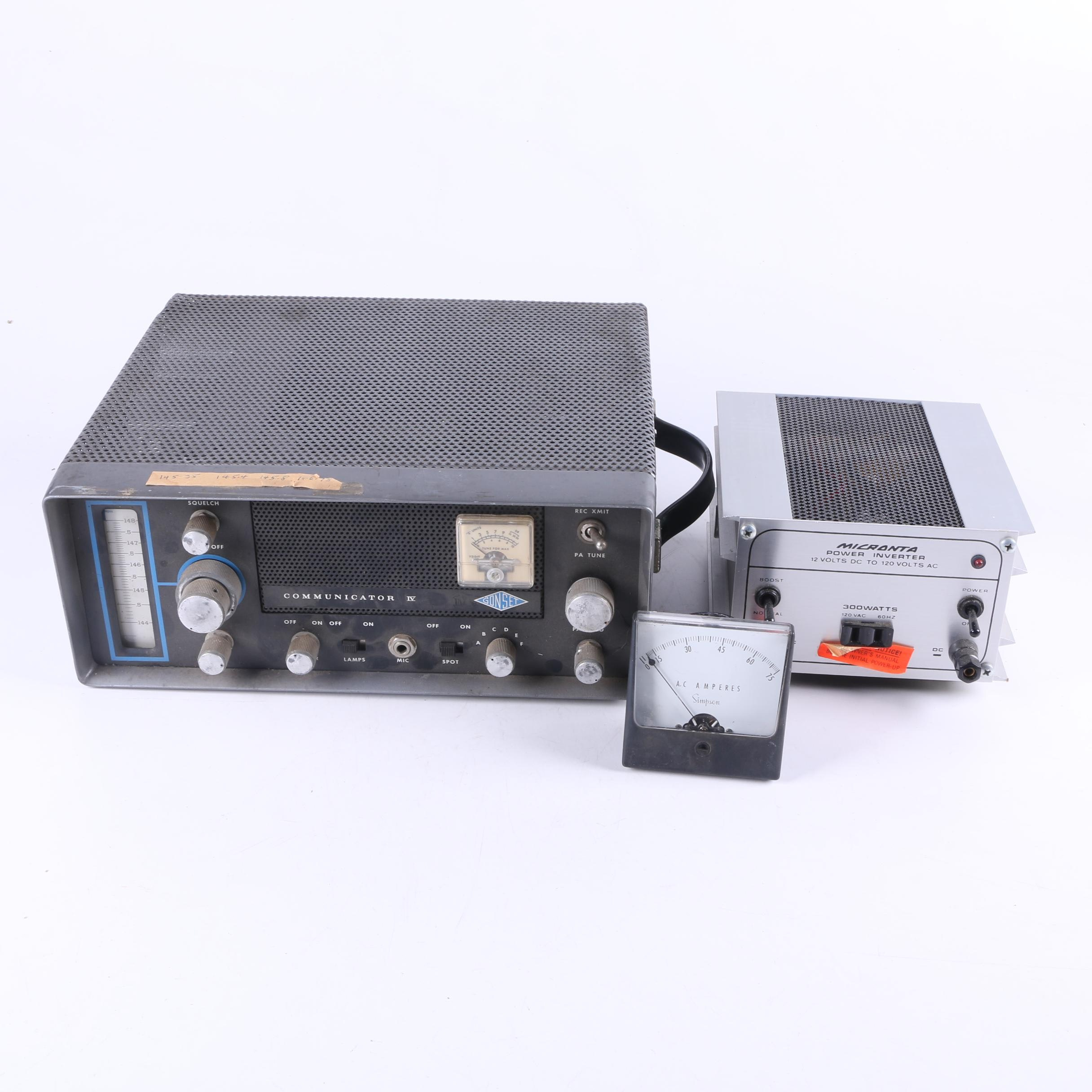 Gonset Communicator IV AM Transceiver with Micronta Power Inverter