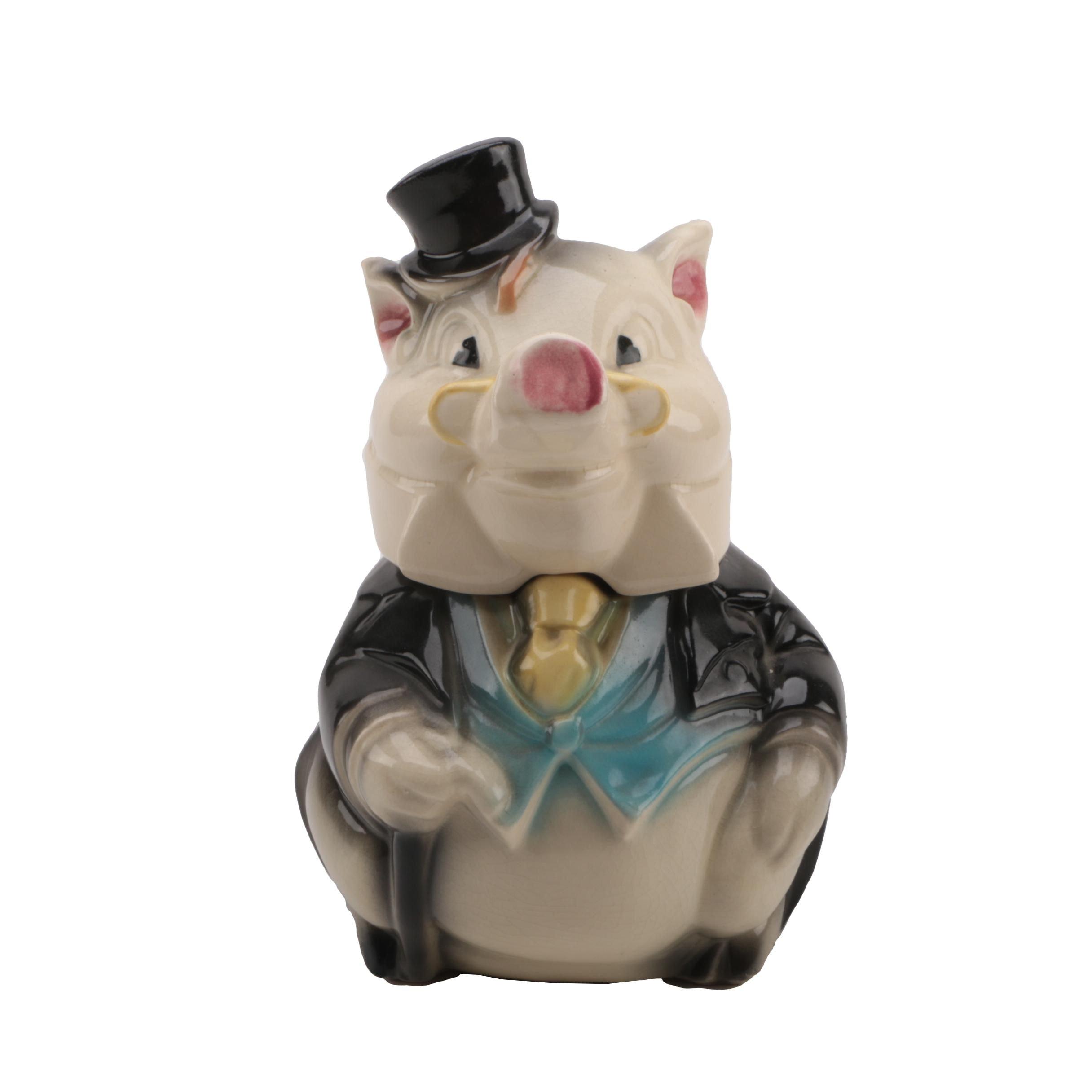 "Vintage Brush Pottery ""Formal Pig"" Cookie Jar"