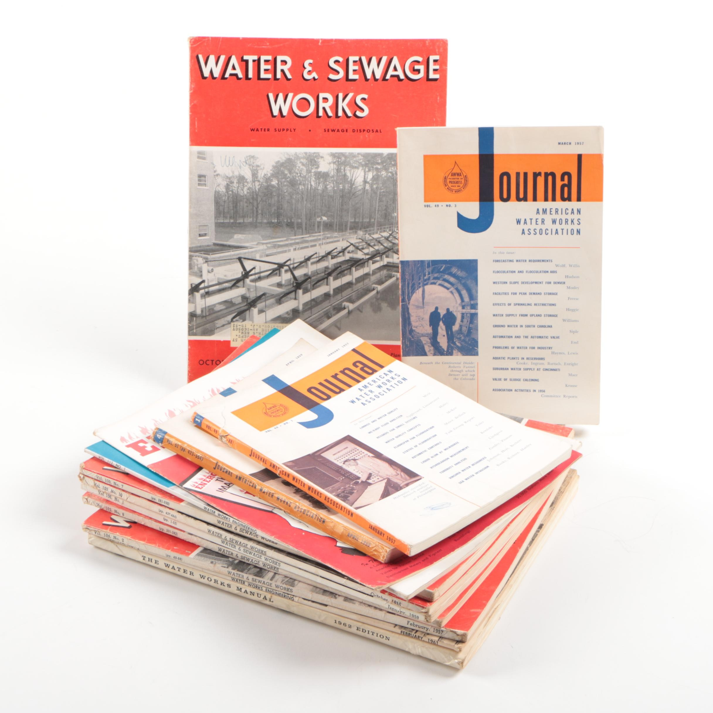 Assortment of Water & Sewage Engineering Books and Journals