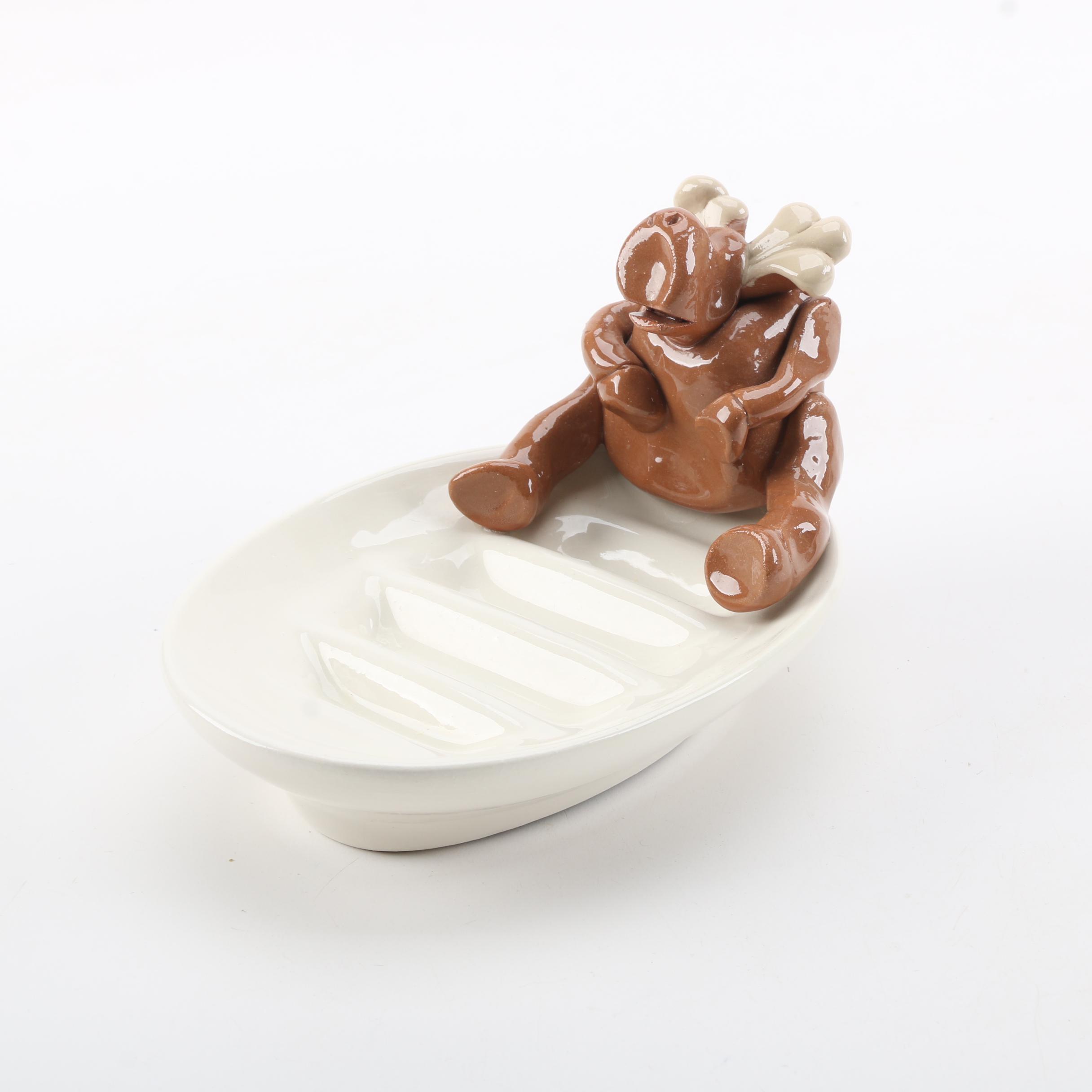 """Ceramic """"Moose"""" Soap Dish"""