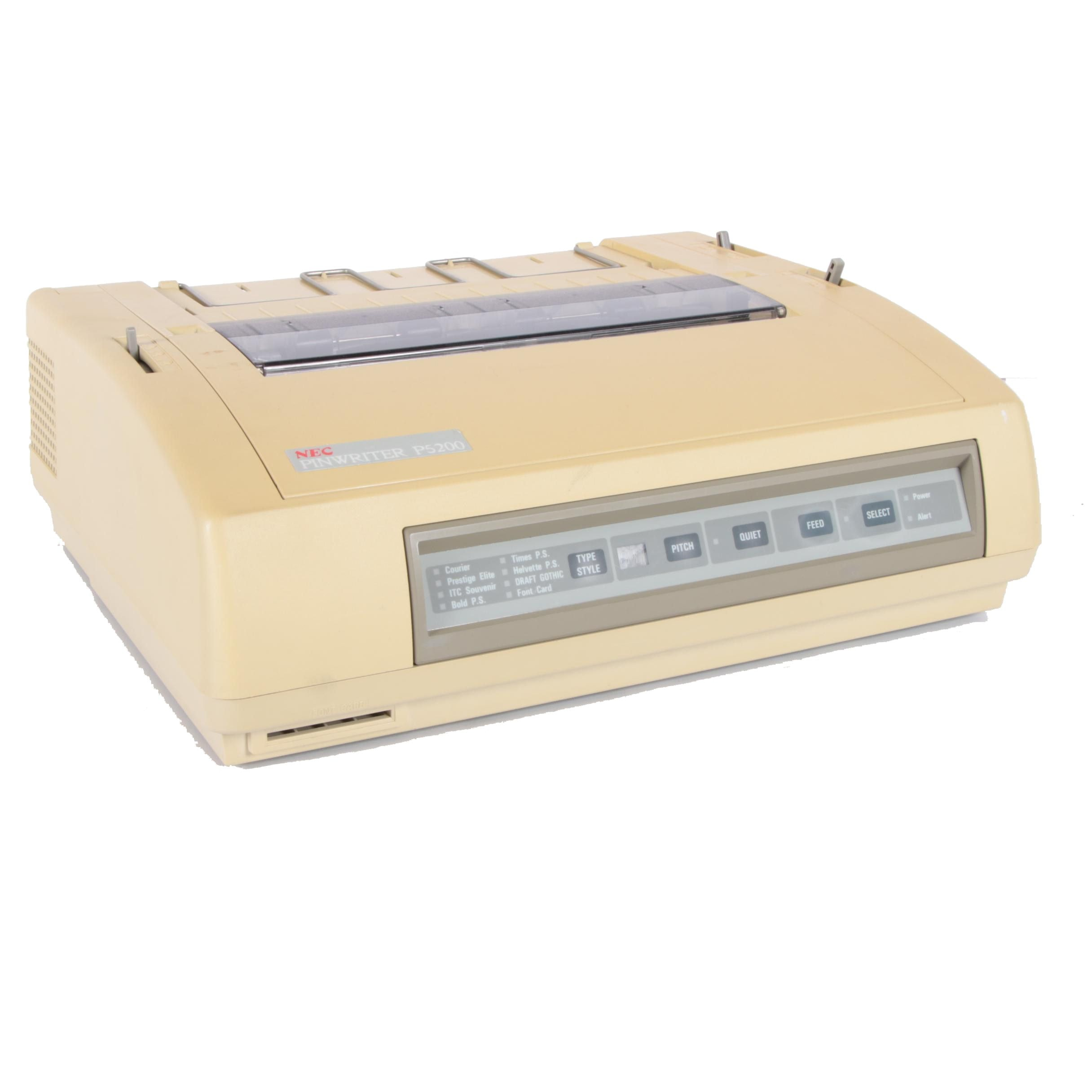 1980s NEC Pinwriter P5200 24-Wire Dot Matrix Printer