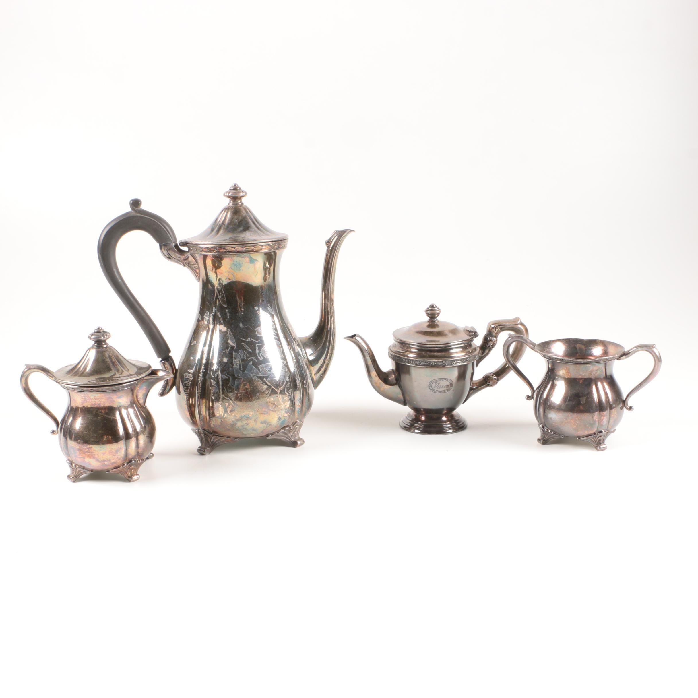 "Oneida ""Northern Leaf"" Silver Plate Tea Service"