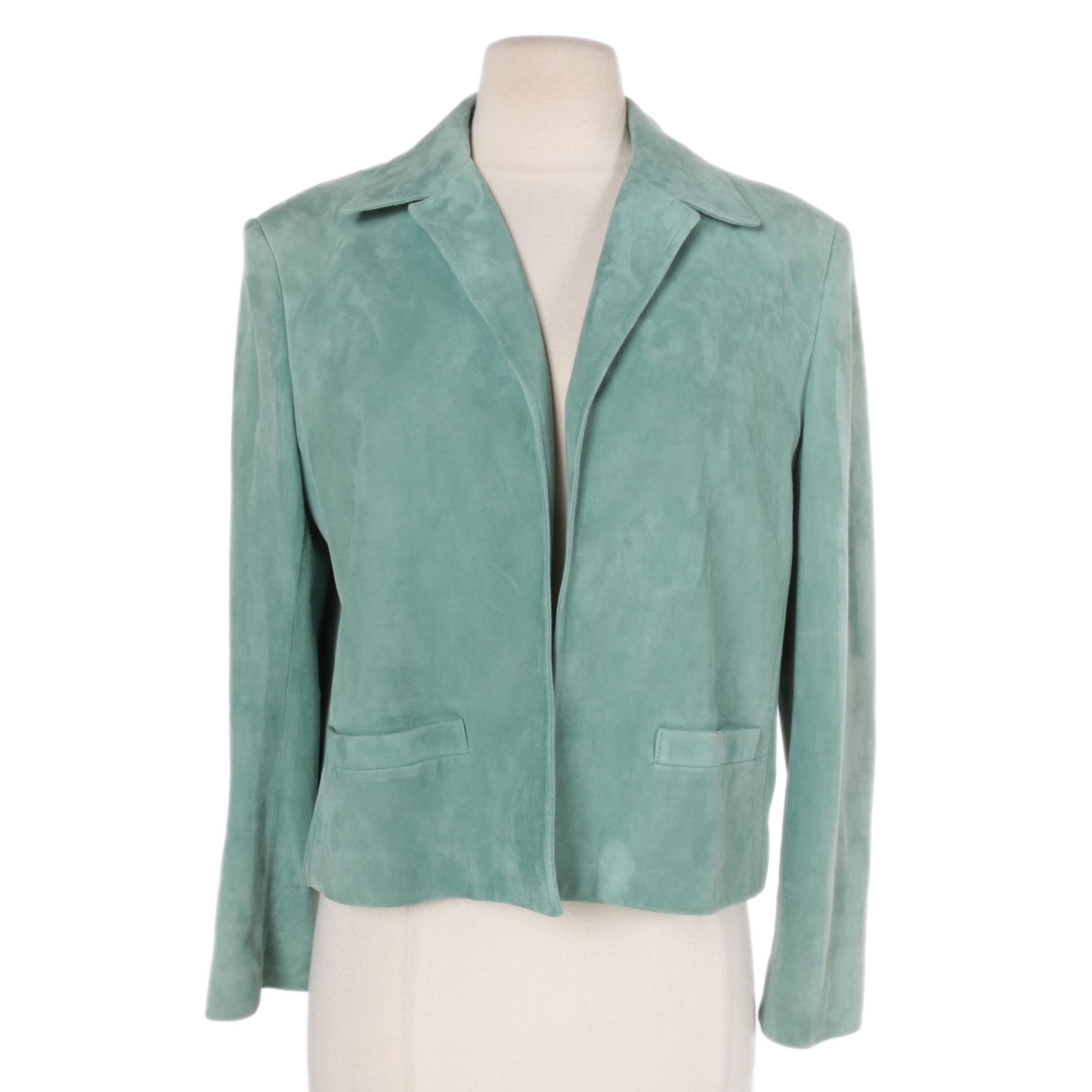 Women's Ralph Lauren Green Suede Jacket