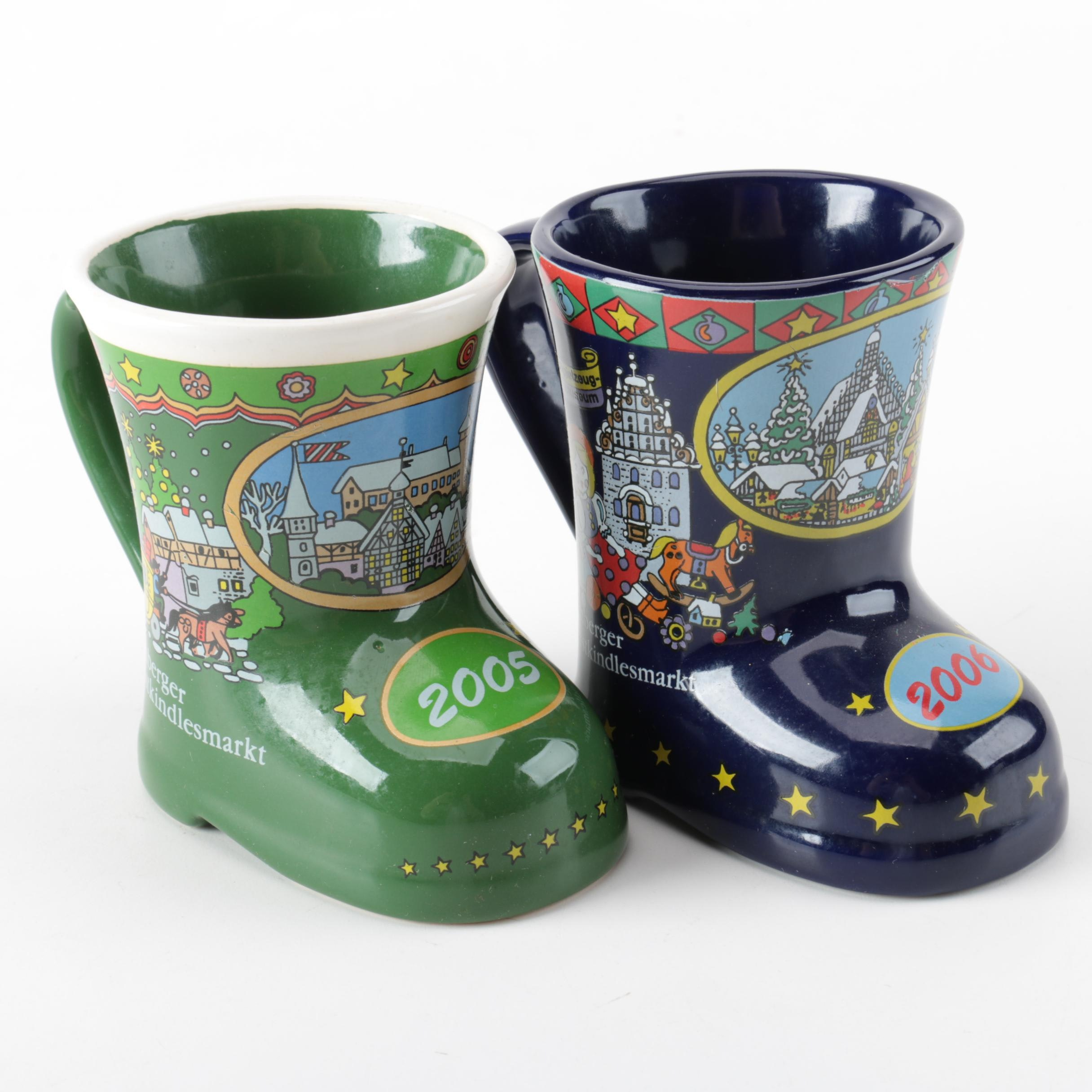 Koessinger Stoneware Mulled Wine Boot Mugs